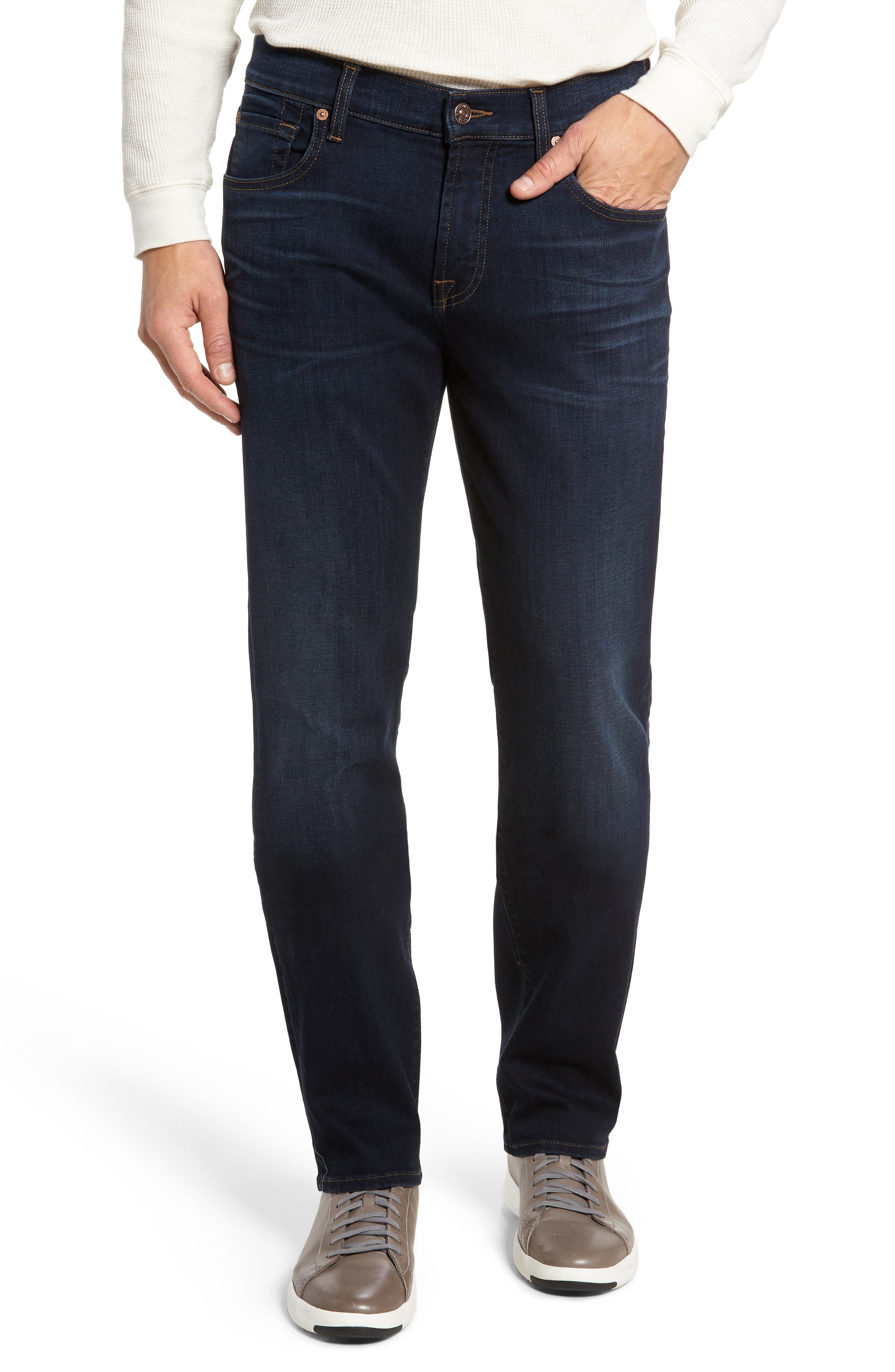 Main Image - 7 For All Mankind® Standard Straight Fit Jeans (Albany)