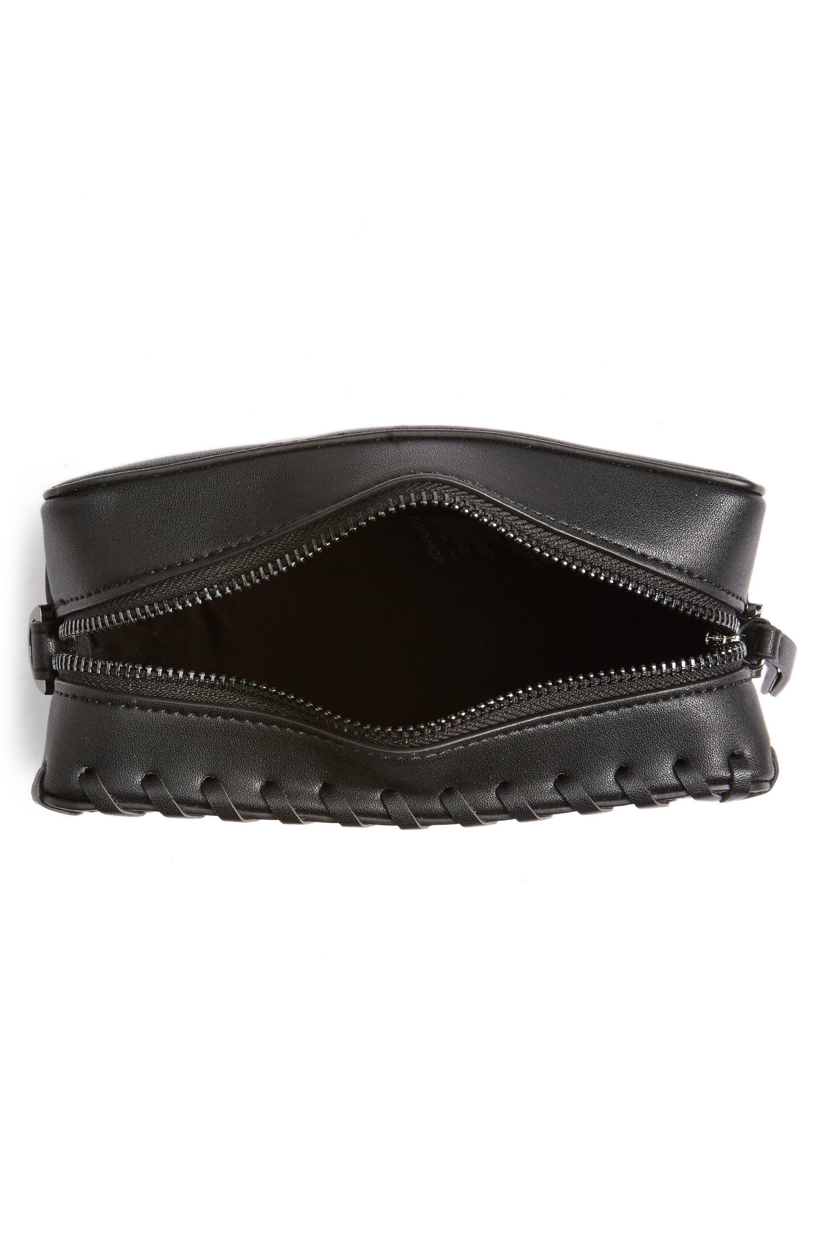 Alternate Image 8  - Topshop Rogue Whipstitch Faux Leather Crossbody Bag