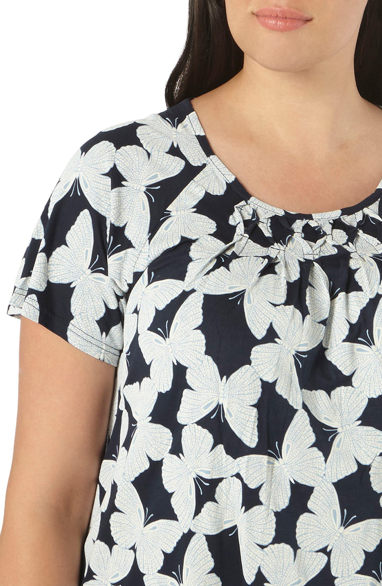 Alternate Image 4  - Evans Butterfly Honeycomb Top (Plus Size)