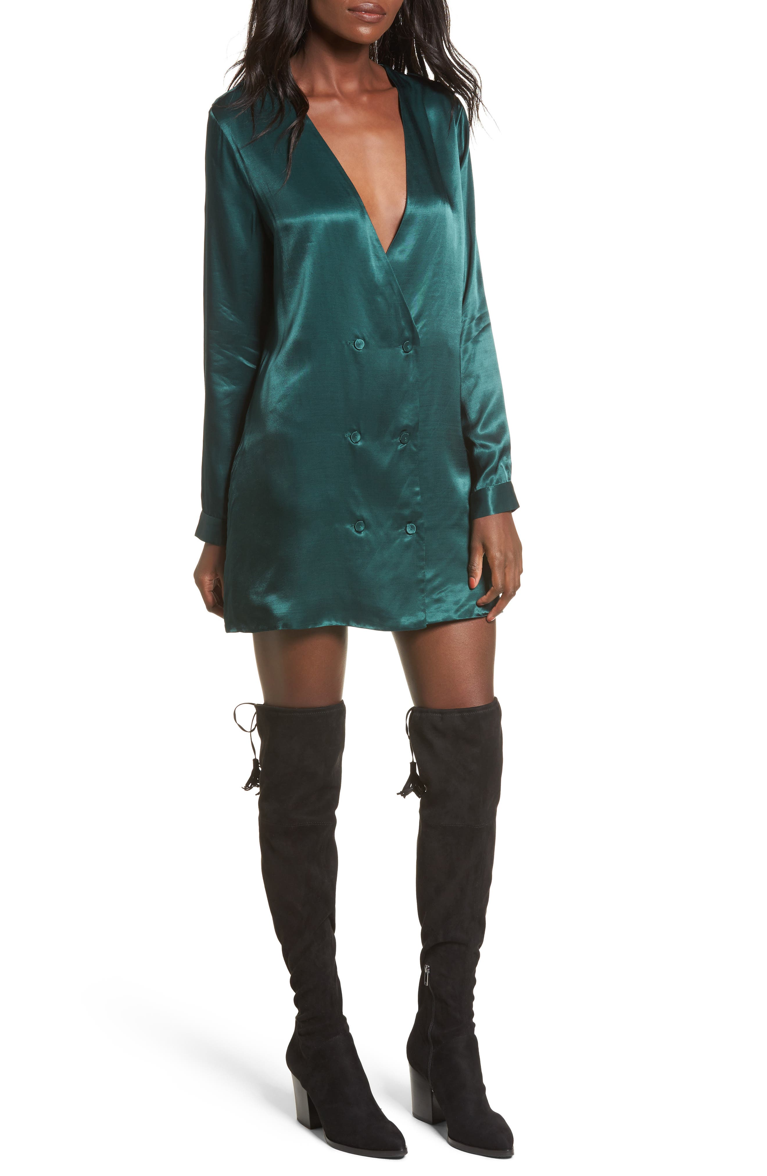 L'Academie The Cadet Shirtdress,                         Main,                         color, Emerald