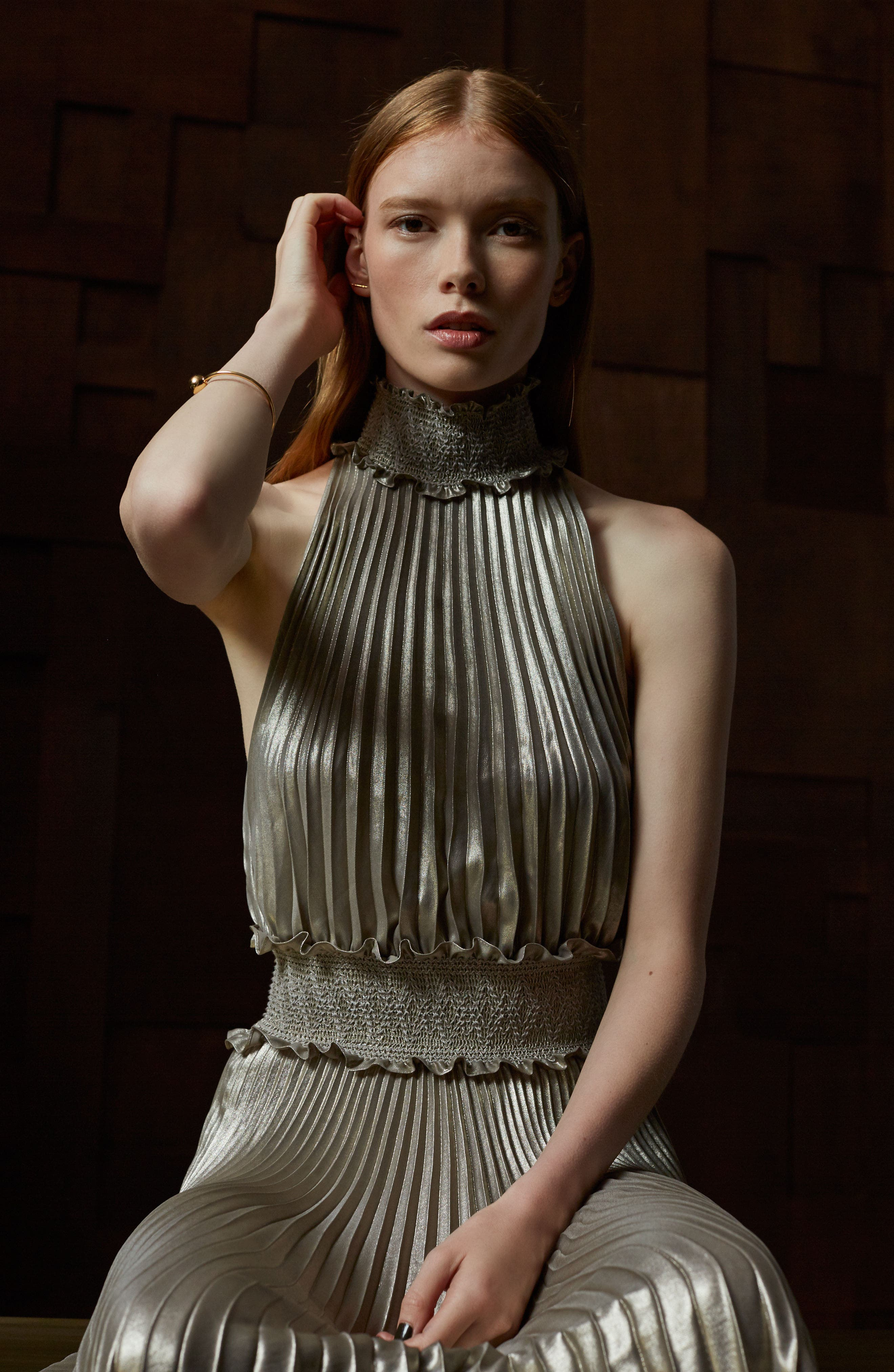 Alternate Image 2  - A.L.C. Kravitz Pleated Midi Dress