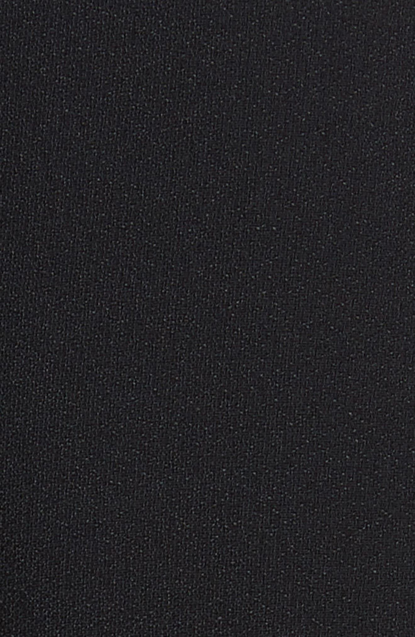 Fringe Hem Turtleneck,                             Alternate thumbnail 5, color,                             Black