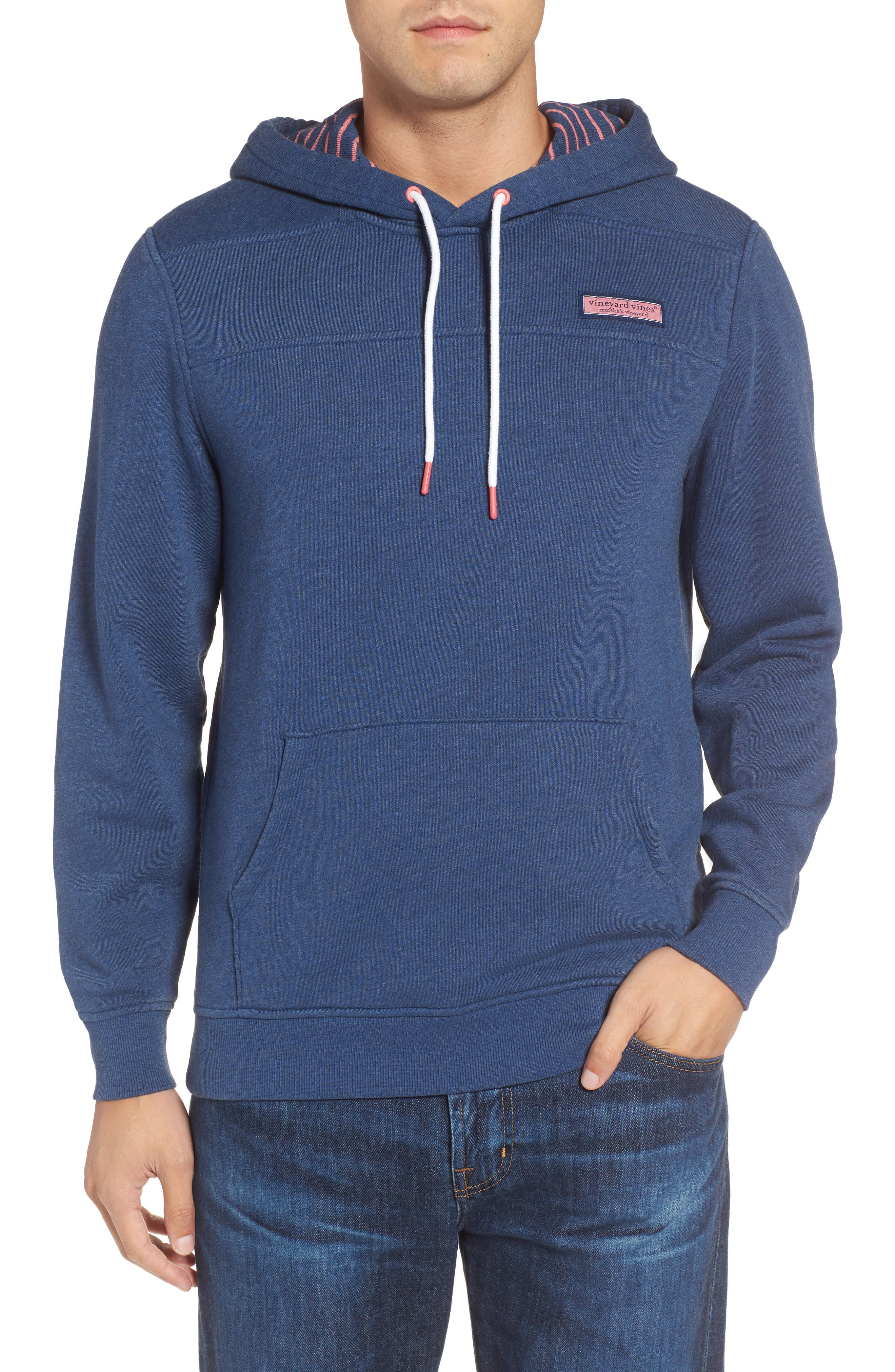 Washed Cotton Pullover Hoodie,                         Main,                         color, Moonshine