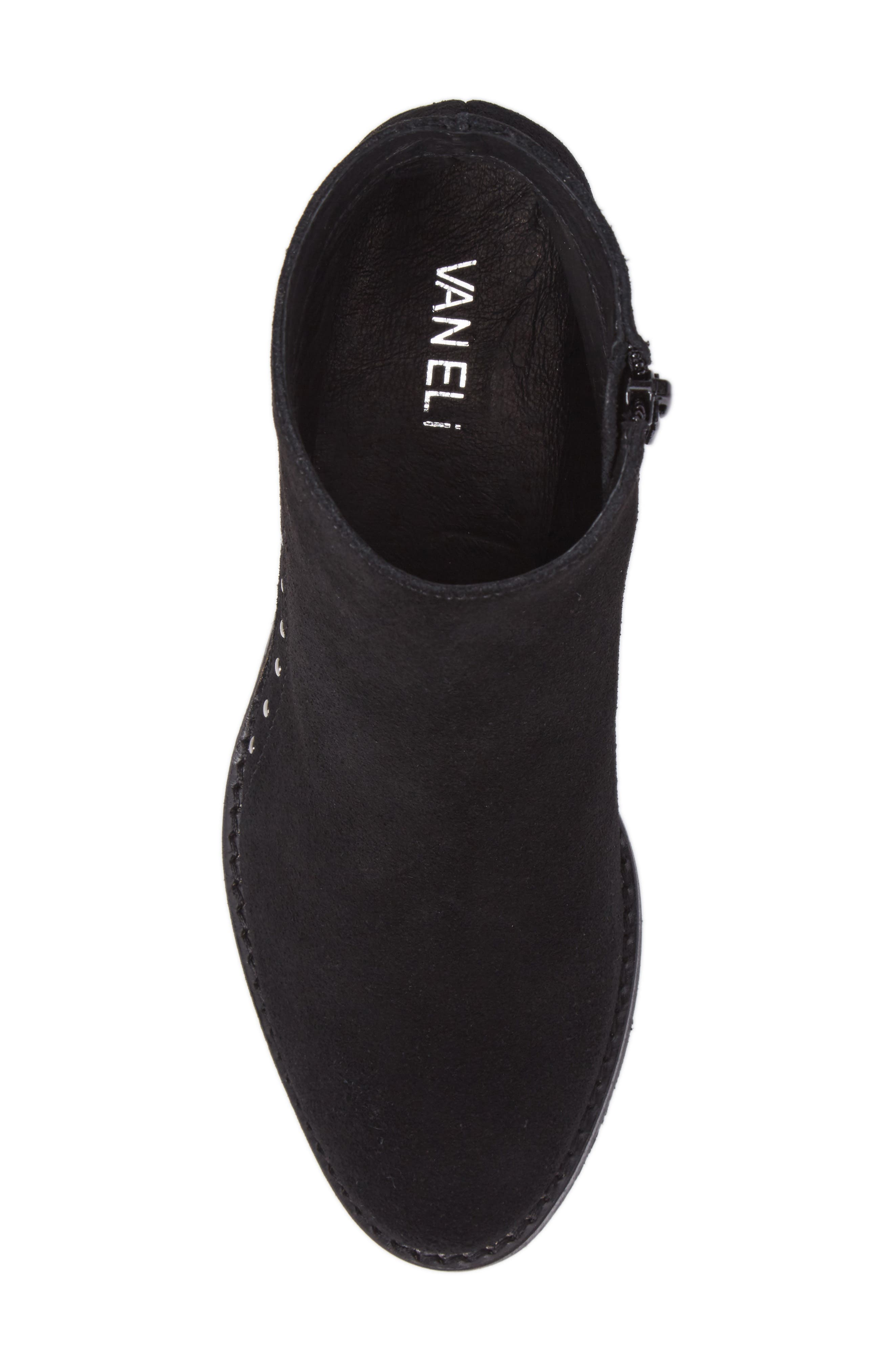 Irven Stud Bootie,                             Alternate thumbnail 5, color,                             Black Suede