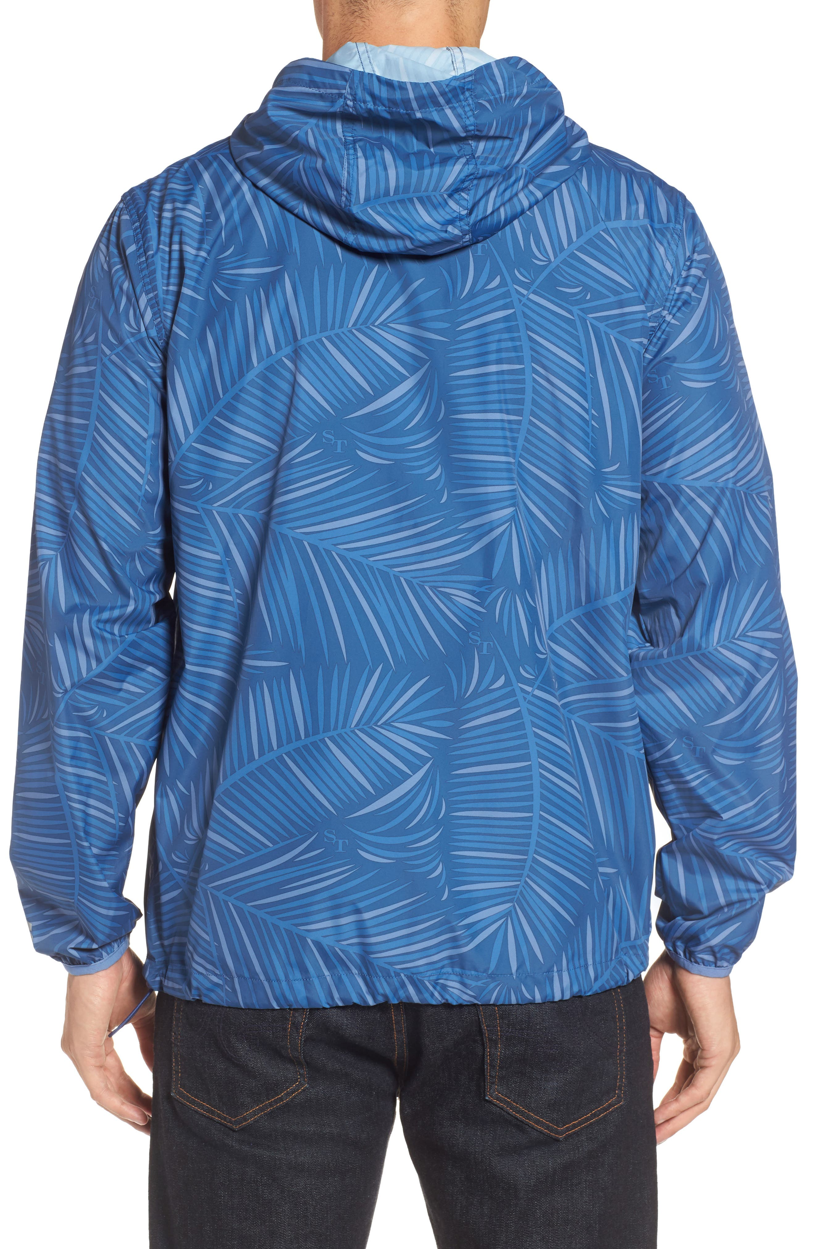 Pelican Peak Full Zip Hooded Jacket,                             Alternate thumbnail 2, color,                             Seven Seas Blue