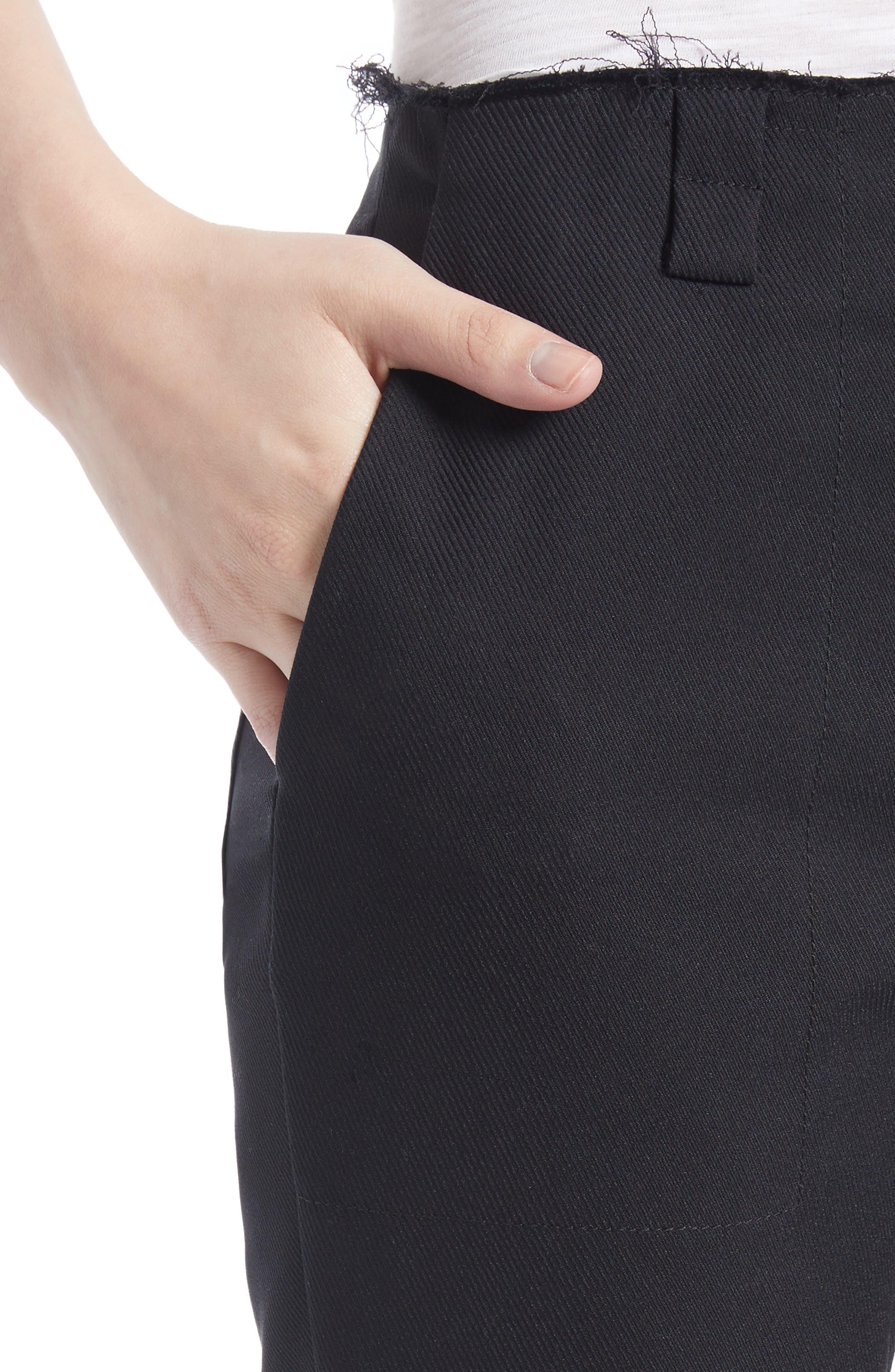 Alternate Image 4  - Proenza Schouler Stretch Cotton Blend Flare Pants