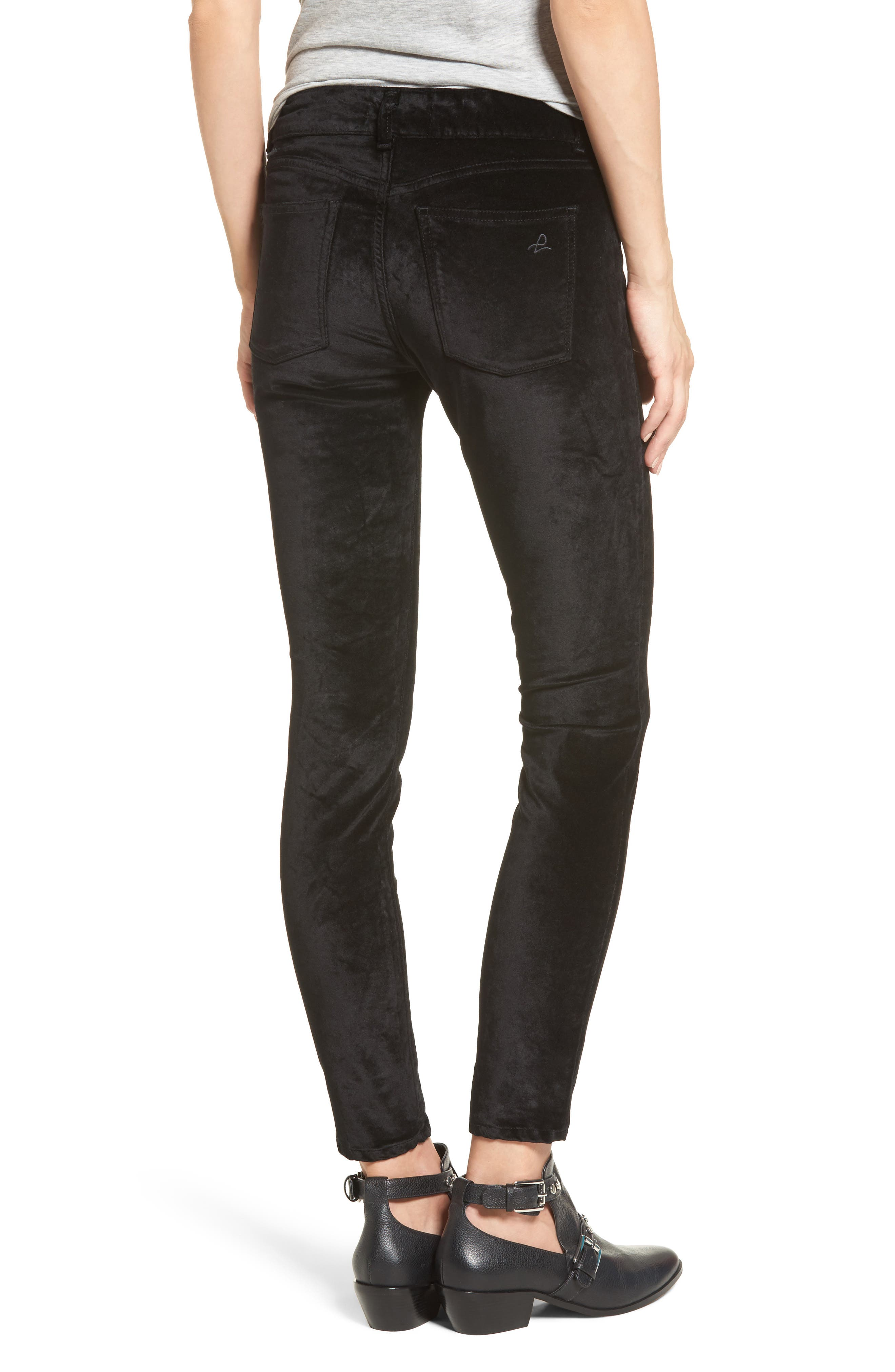 Alternate Image 2  - DL1961 Emma Power Legging Jeans (Jet Black)