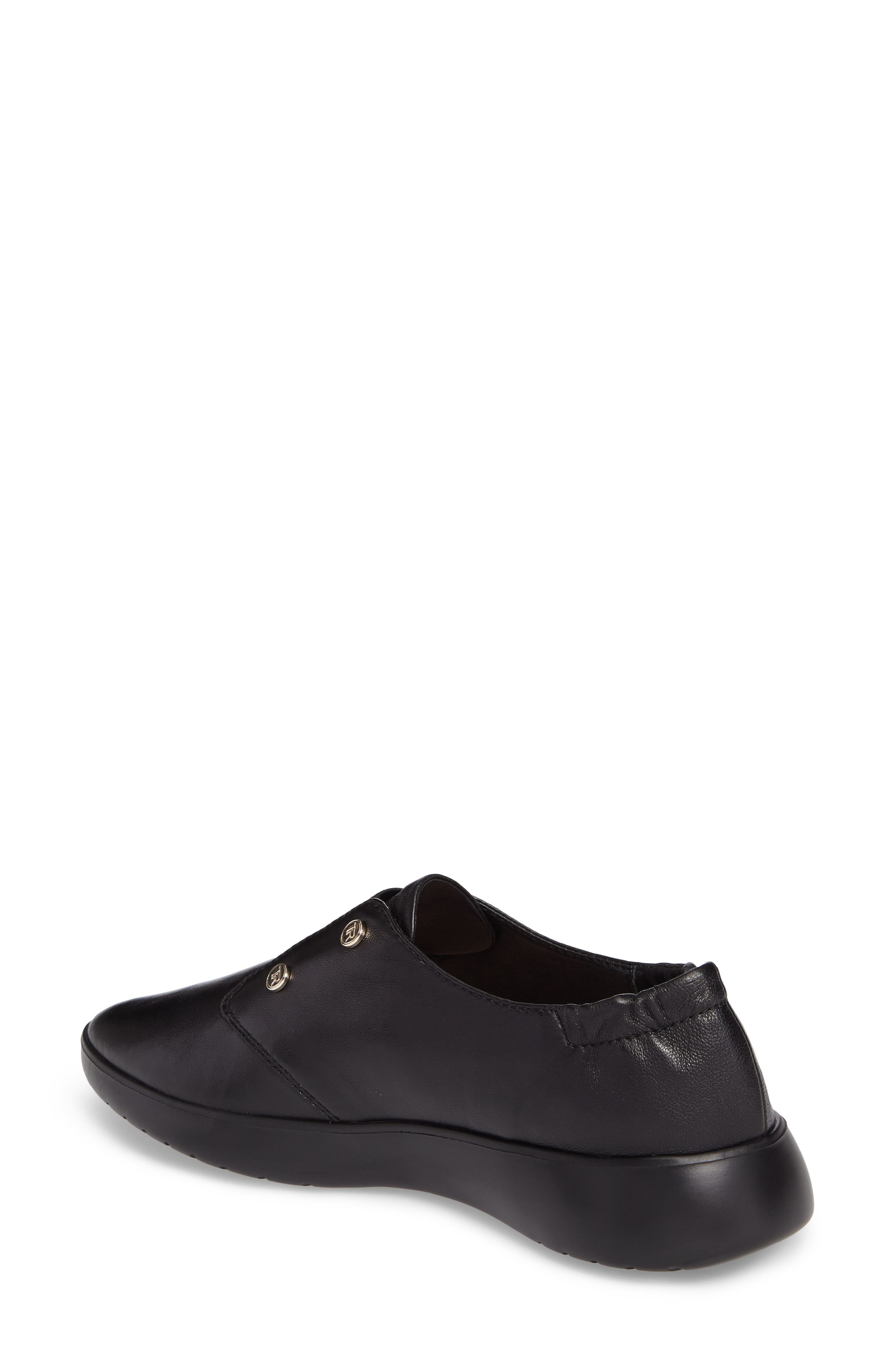 Darcy Slip-On Oxford,                             Alternate thumbnail 2, color,                             Black Leather