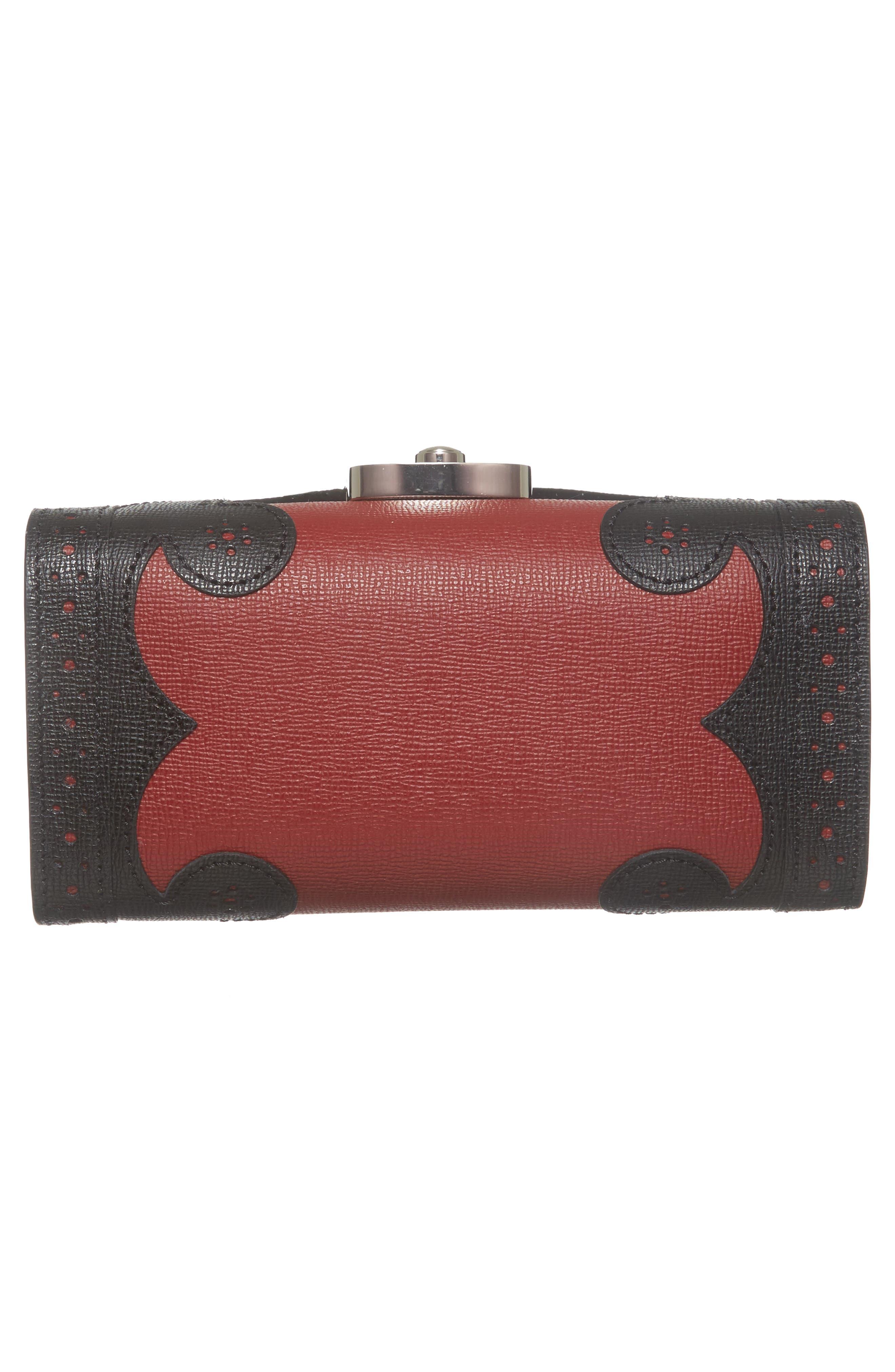 Effrontée Leather Crossbody Bag,                             Alternate thumbnail 5, color,                             Red Lacquer