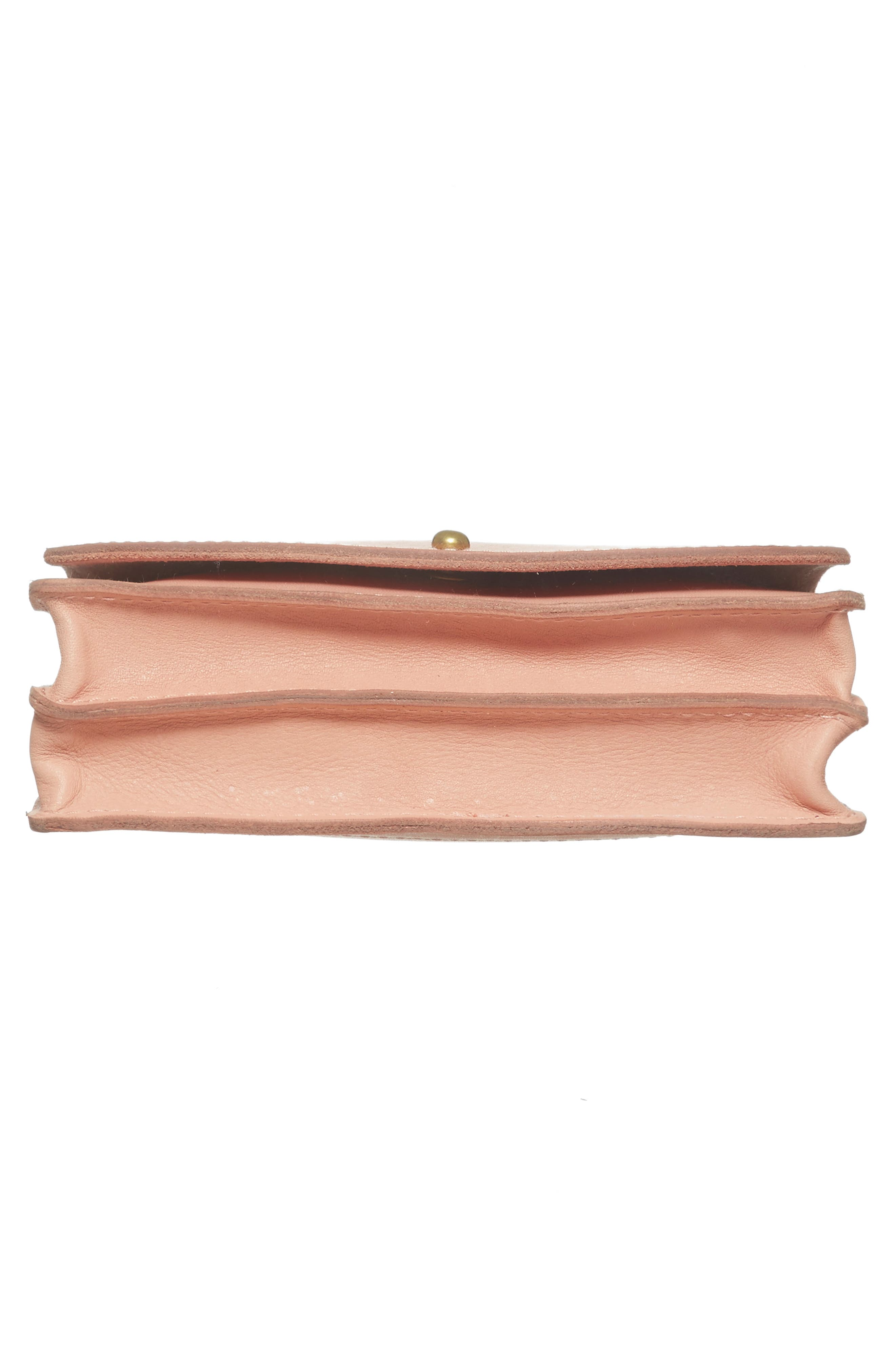 Leather Crossbody Wallet,                             Alternate thumbnail 6, color,                             Tinted Blush
