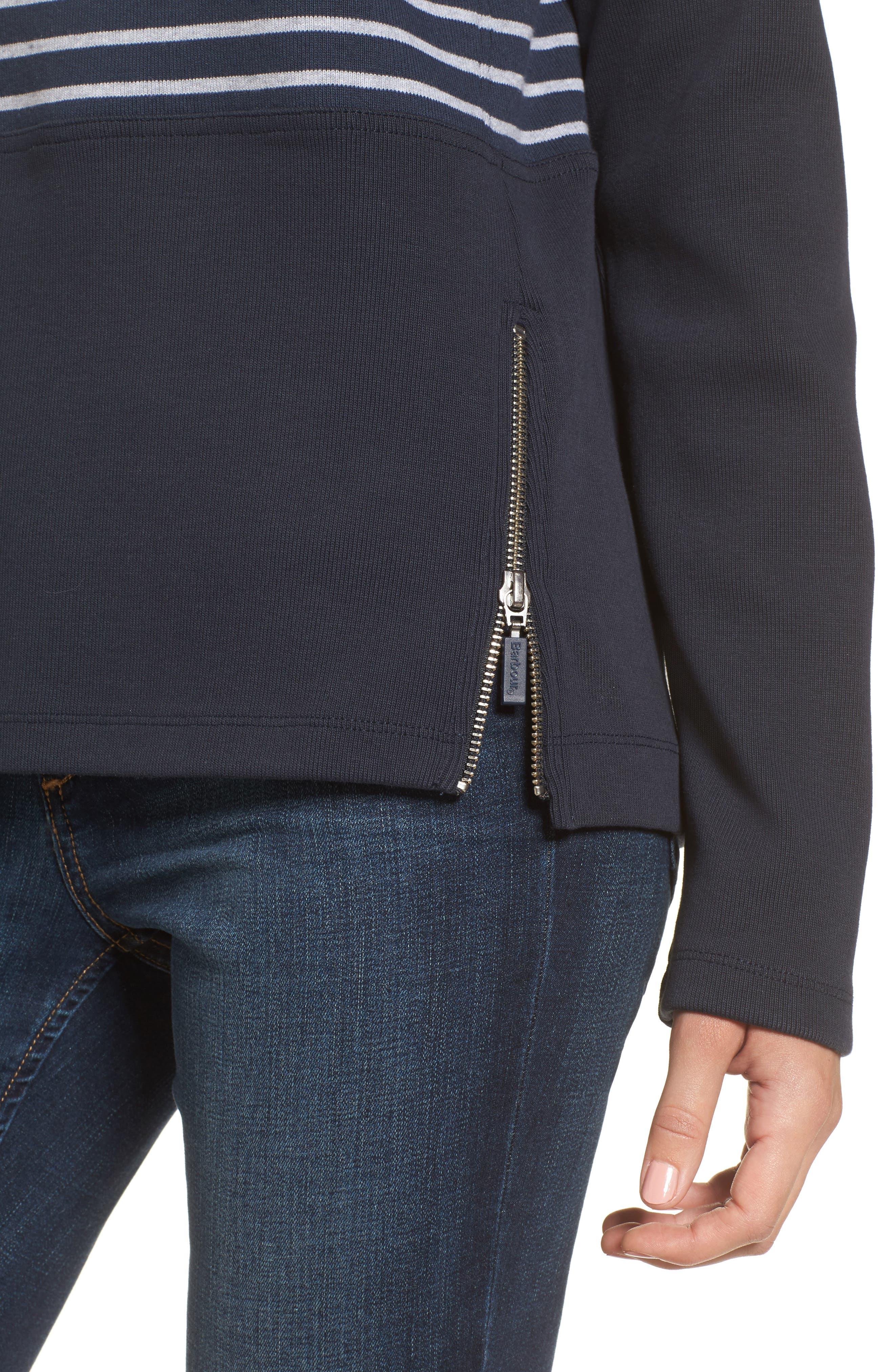 Seaburn Stripe Sweatshirt,                             Alternate thumbnail 4, color,                             Navy/ Grey
