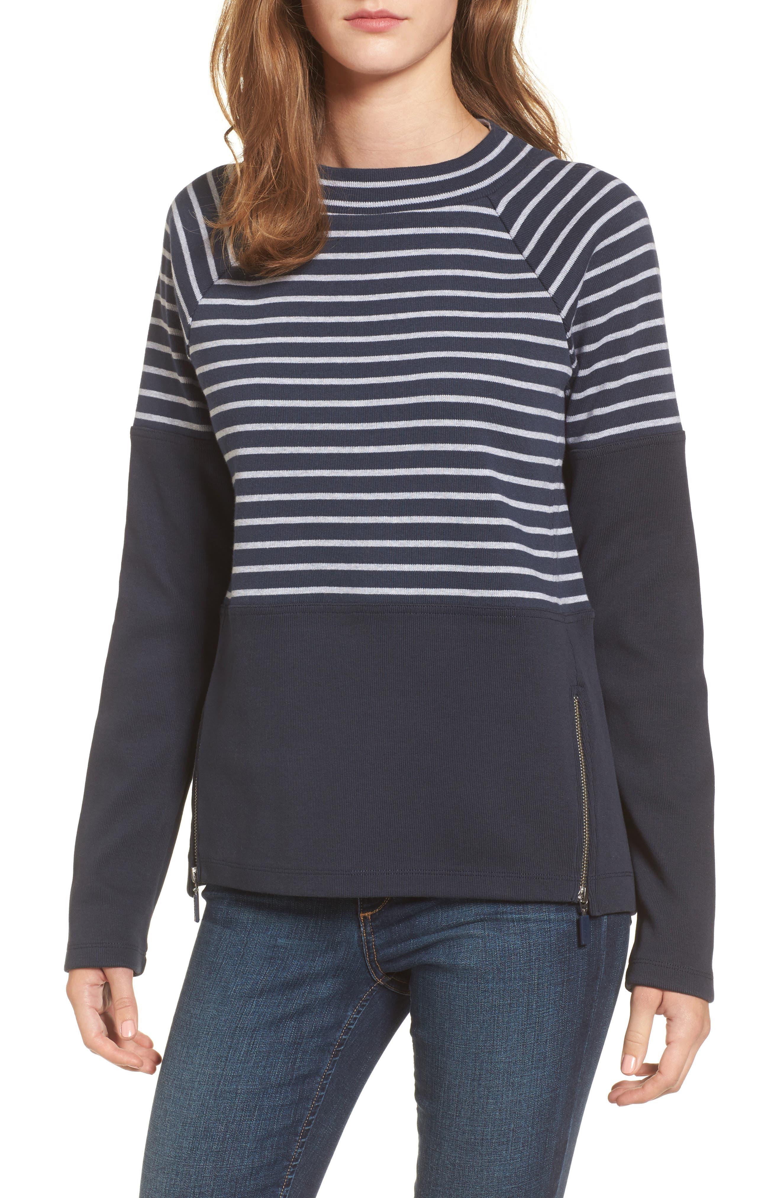 Seaburn Stripe Sweatshirt,                             Main thumbnail 1, color,                             Navy/ Grey