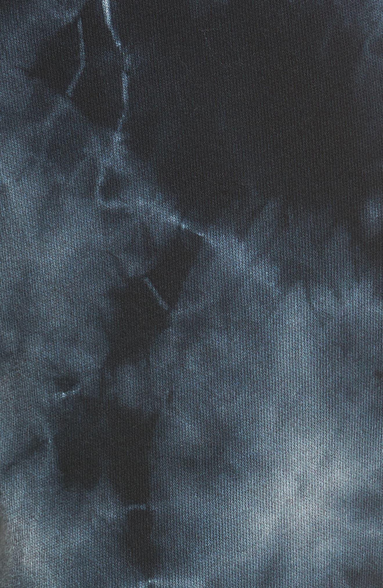 Tie Dye Knit Pants,                             Alternate thumbnail 5, color,                             Black/ Heather Grey Tie Dye