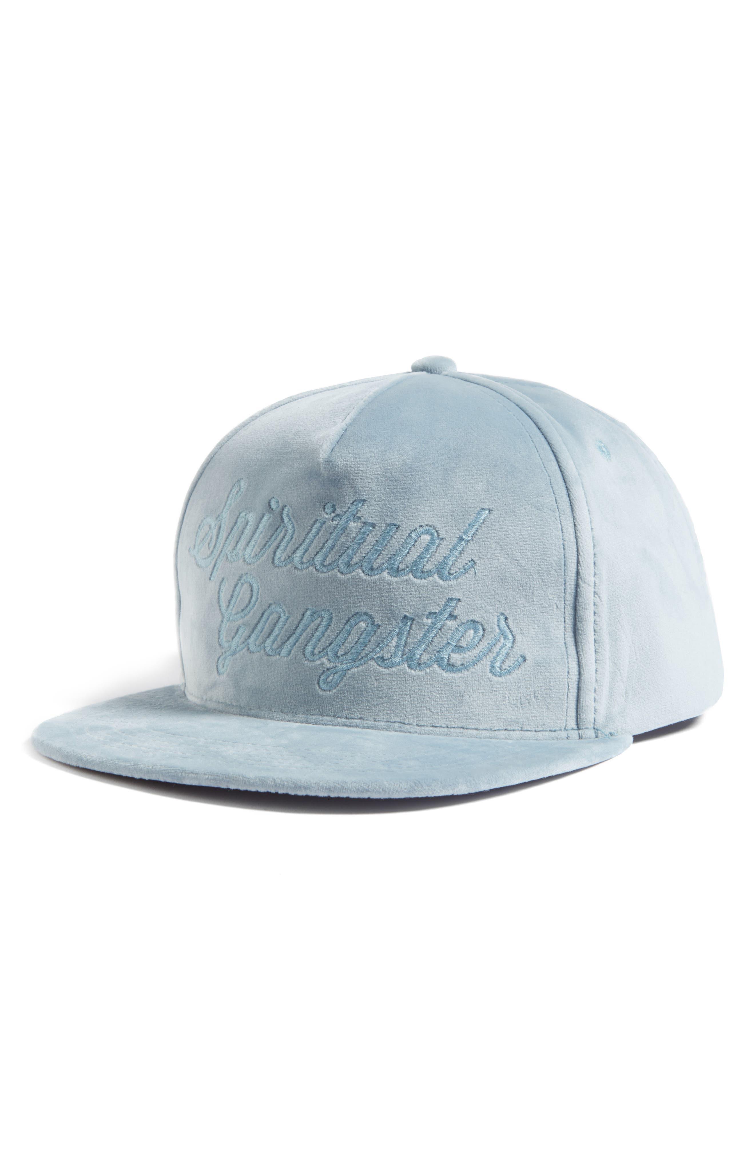 Spiritual Gangster Logo Script Velvet Snapback Cap