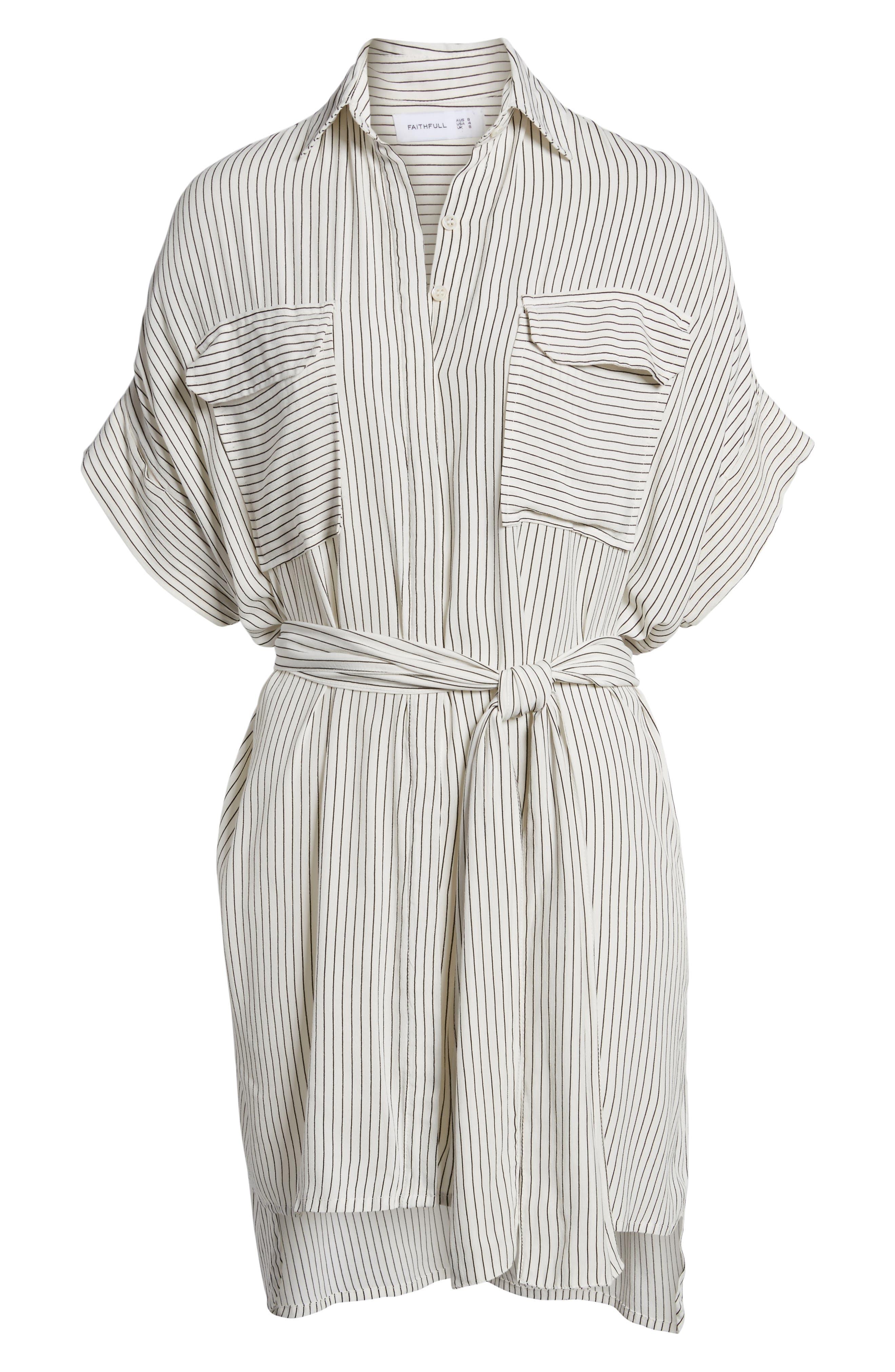 Alternate Image 7  - FAITHFULL THE BRAND Casa Stripe Shirtdress