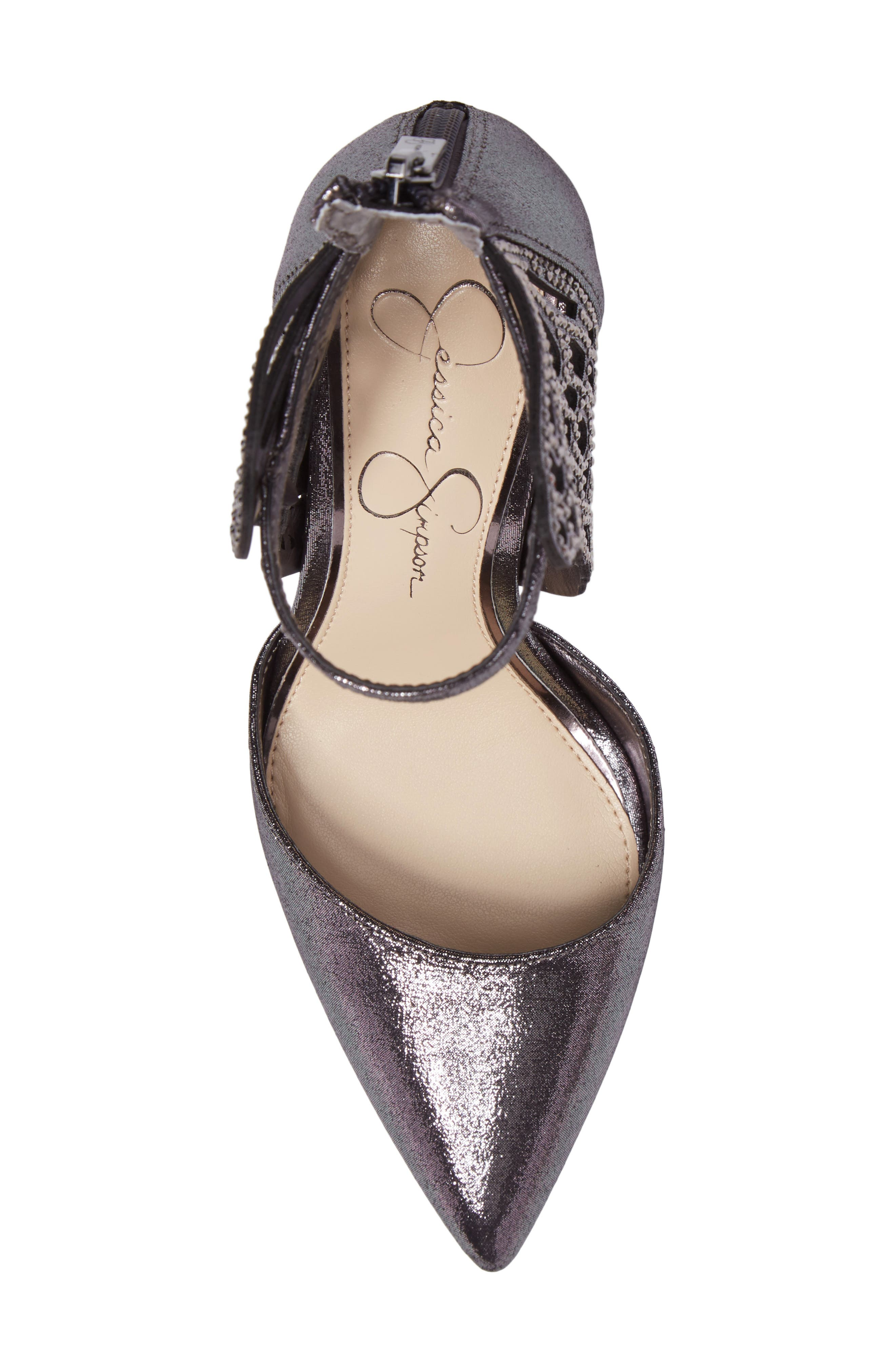 Leasia Butterfly Pump,                             Alternate thumbnail 5, color,                             Pewter Satin