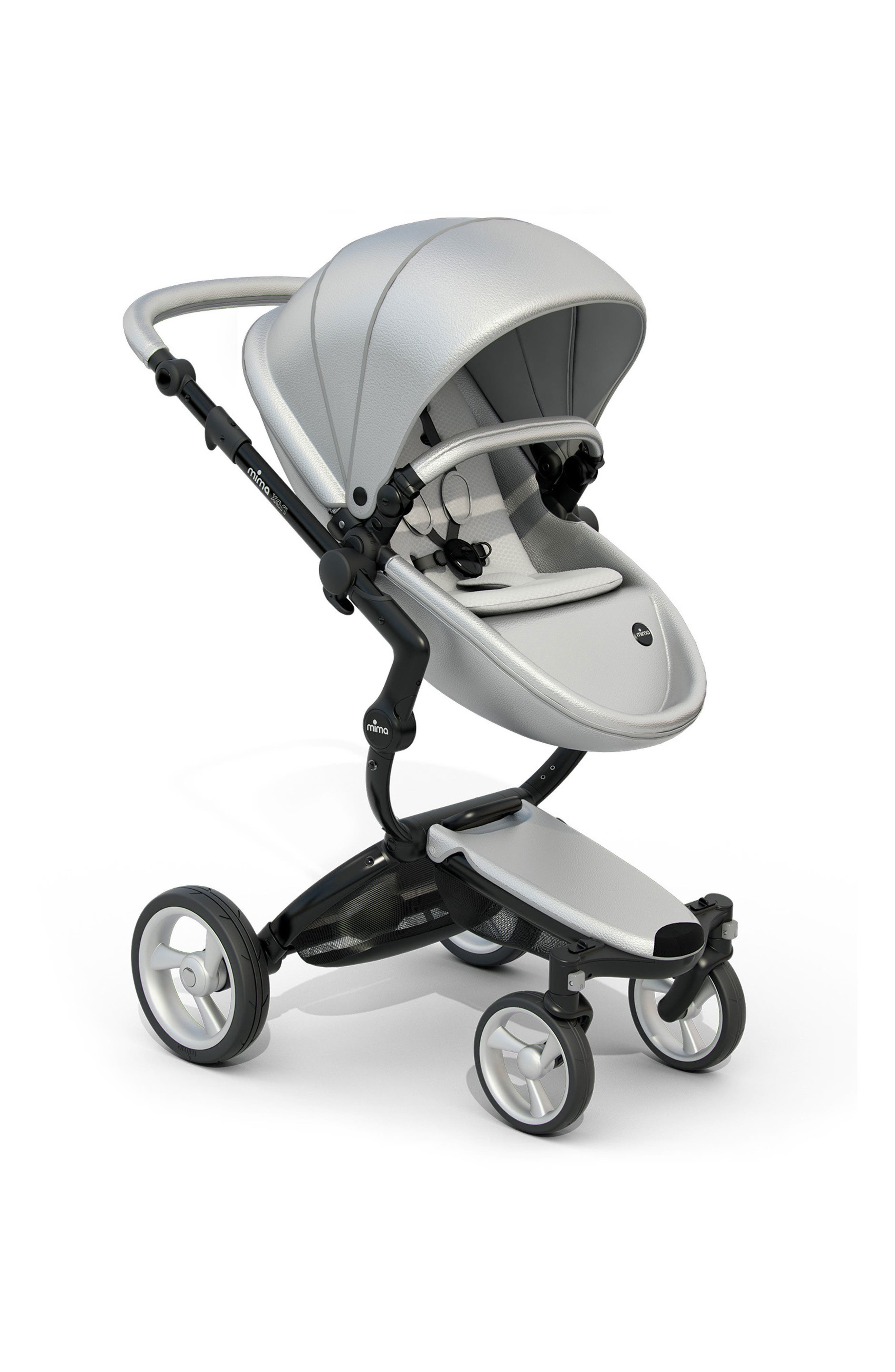 Main Image - Mima Xari Black Chassis Stroller with Reversible Reclining Seat & Carrycot