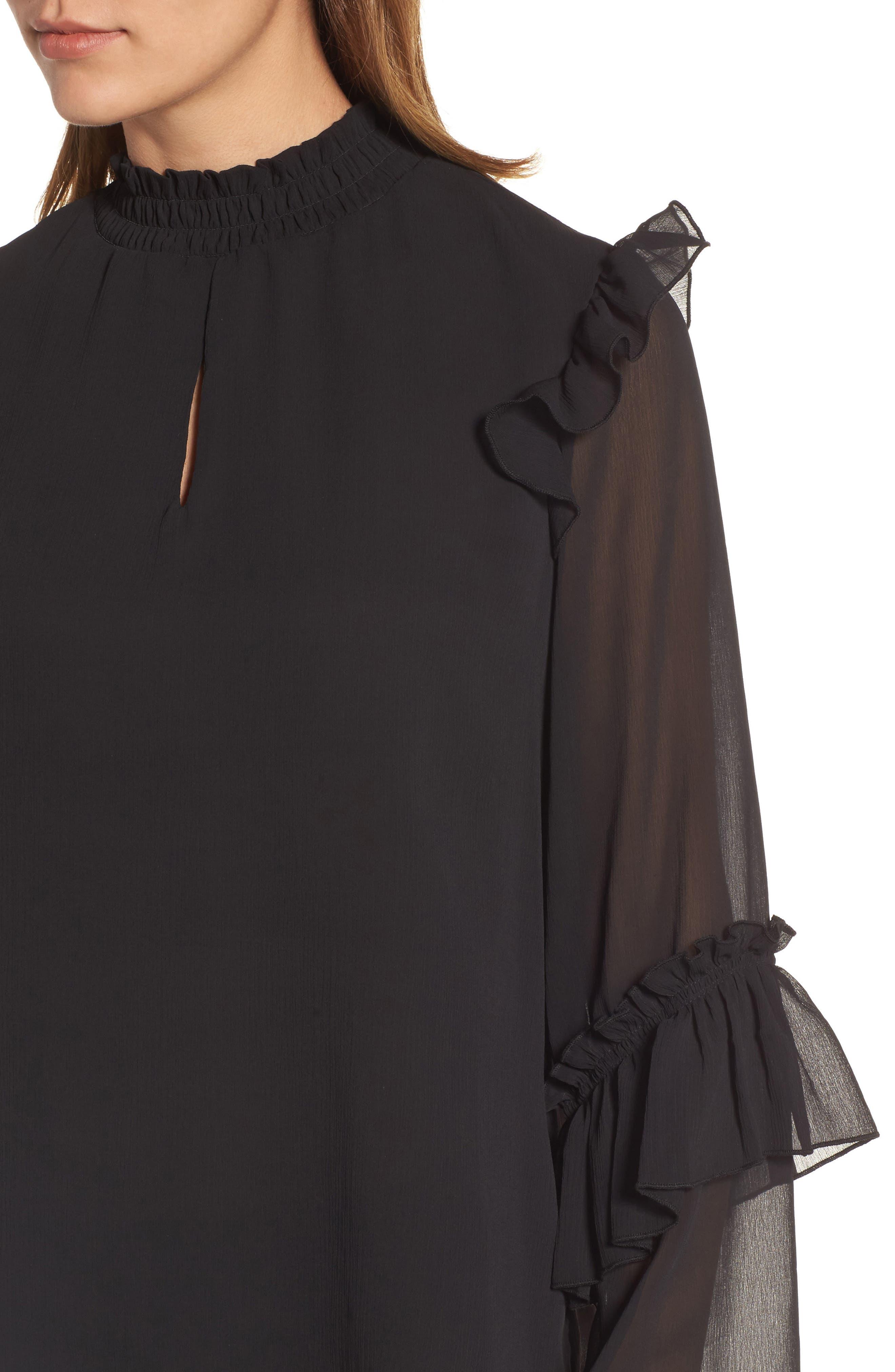 Alternate Image 4  - Bobeau Ruffle Sleeve Blouse