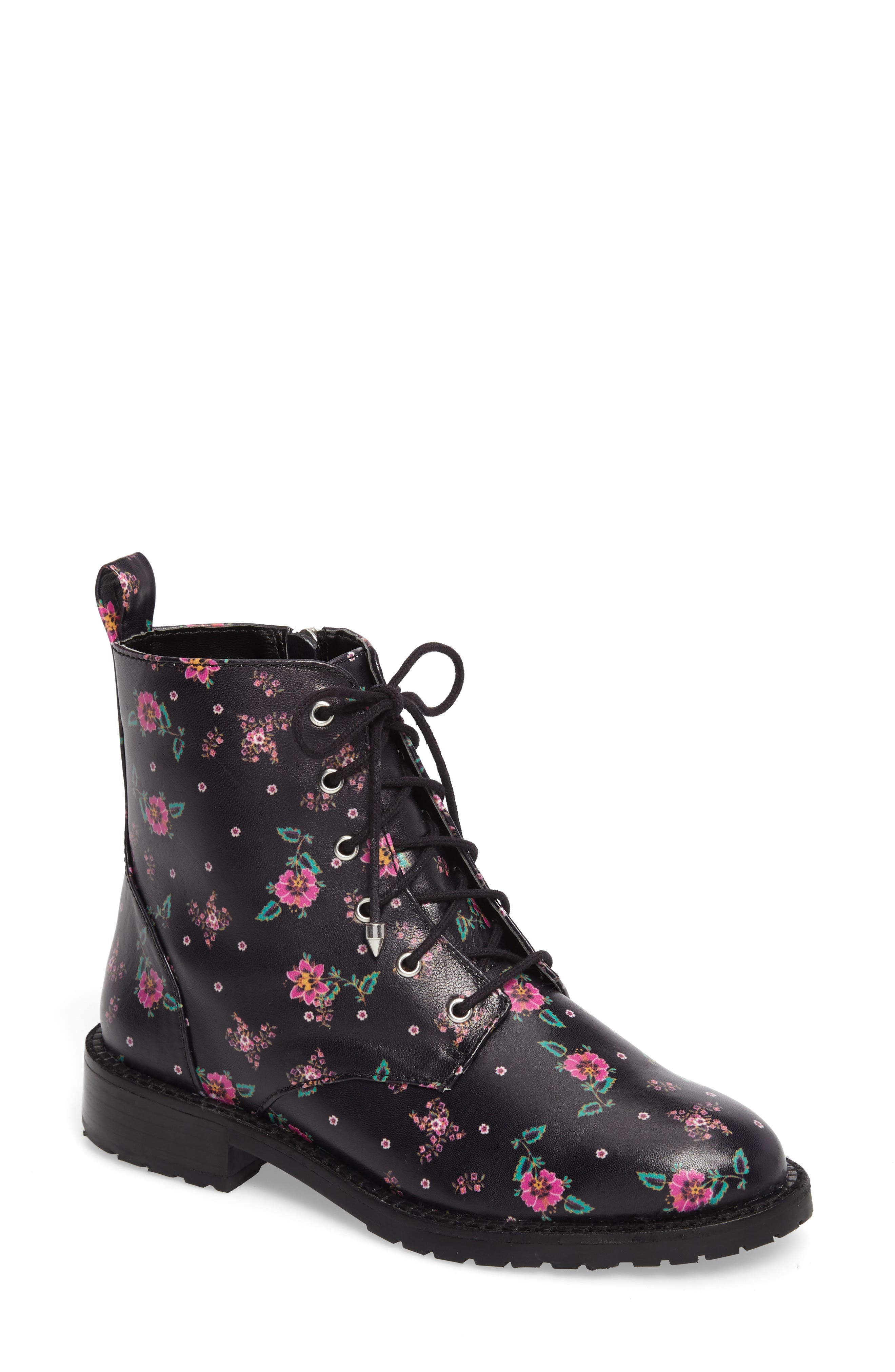 Gerry Lace-Up Boot,                         Main,                         color, Black Leather