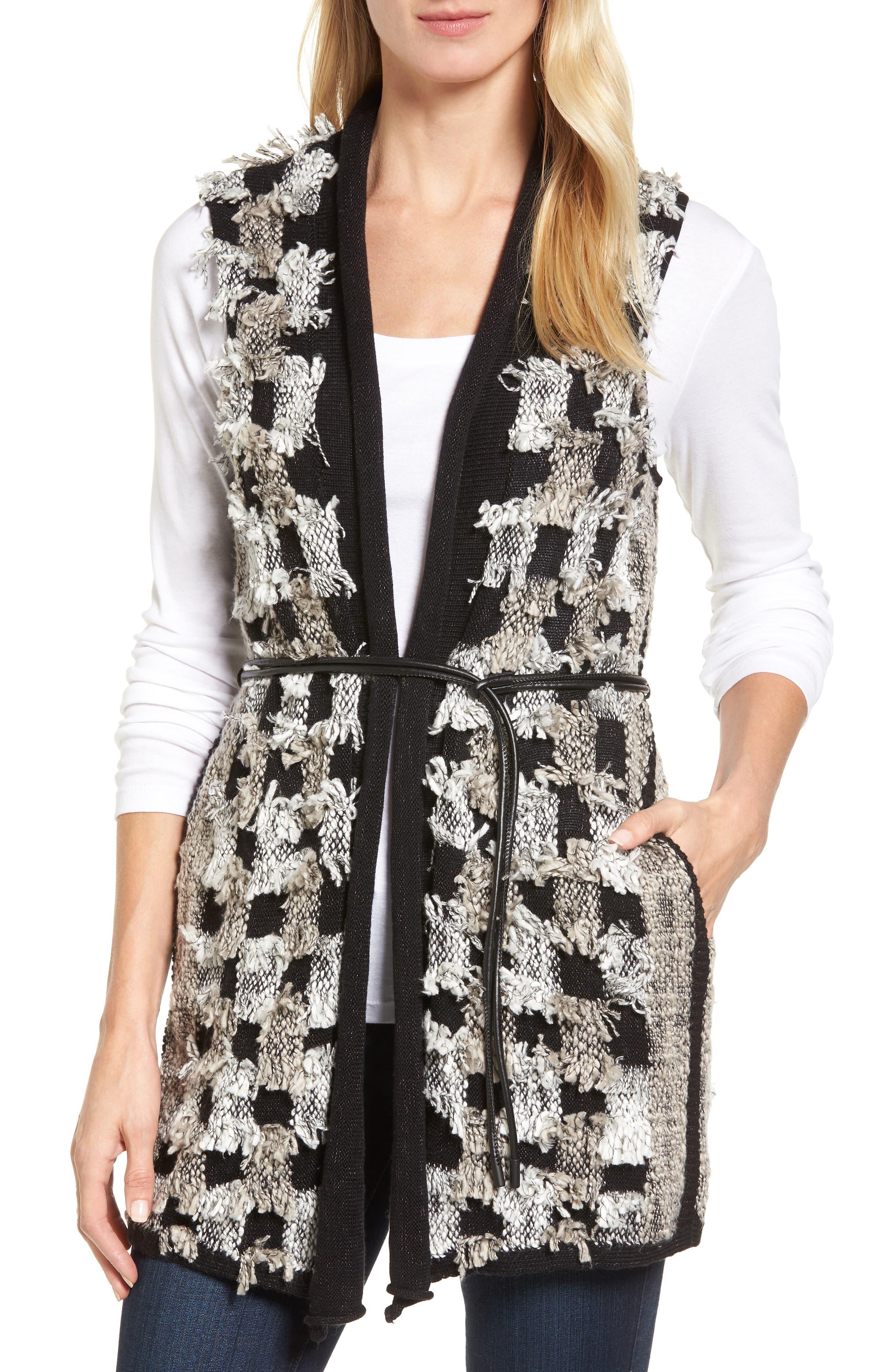 Alternate Image 1 Selected - NIC+ZOE Blocked Out Vest (Regular & Petite)