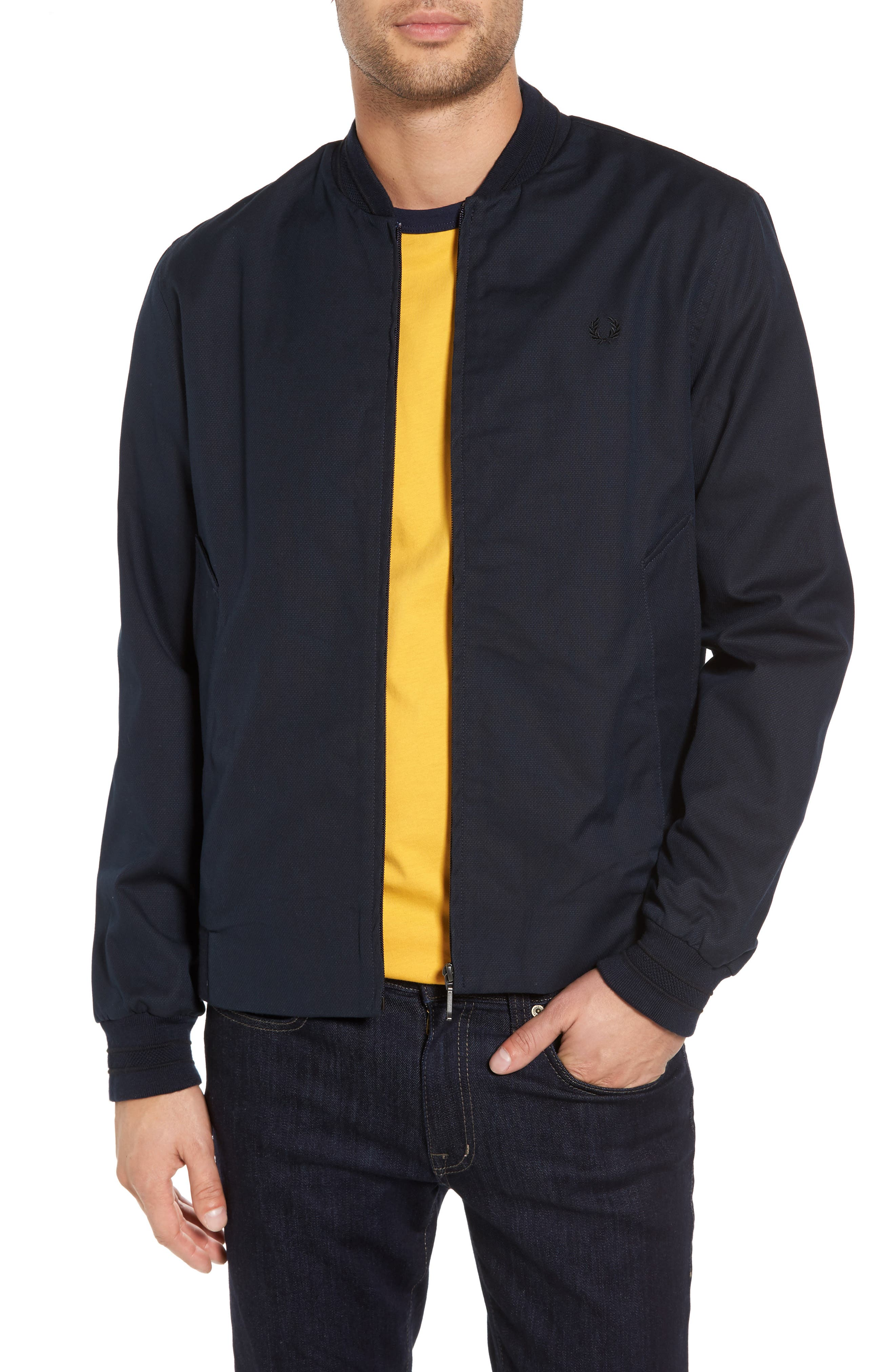 Fred Perry Woven Piqué Bomber Jacket