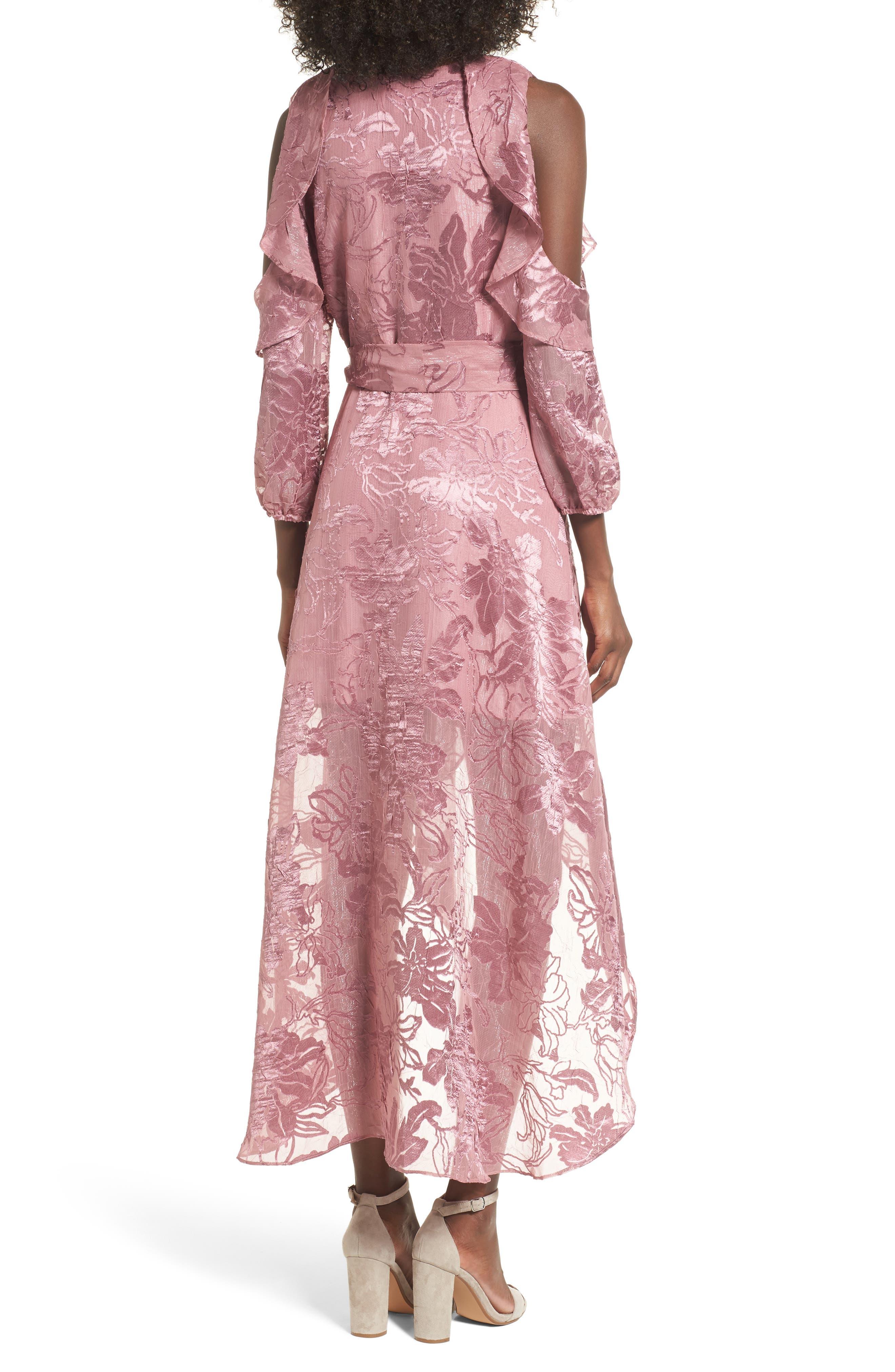 Alternate Image 2  - devlin Libra Cold Shoulder Wrap Dress