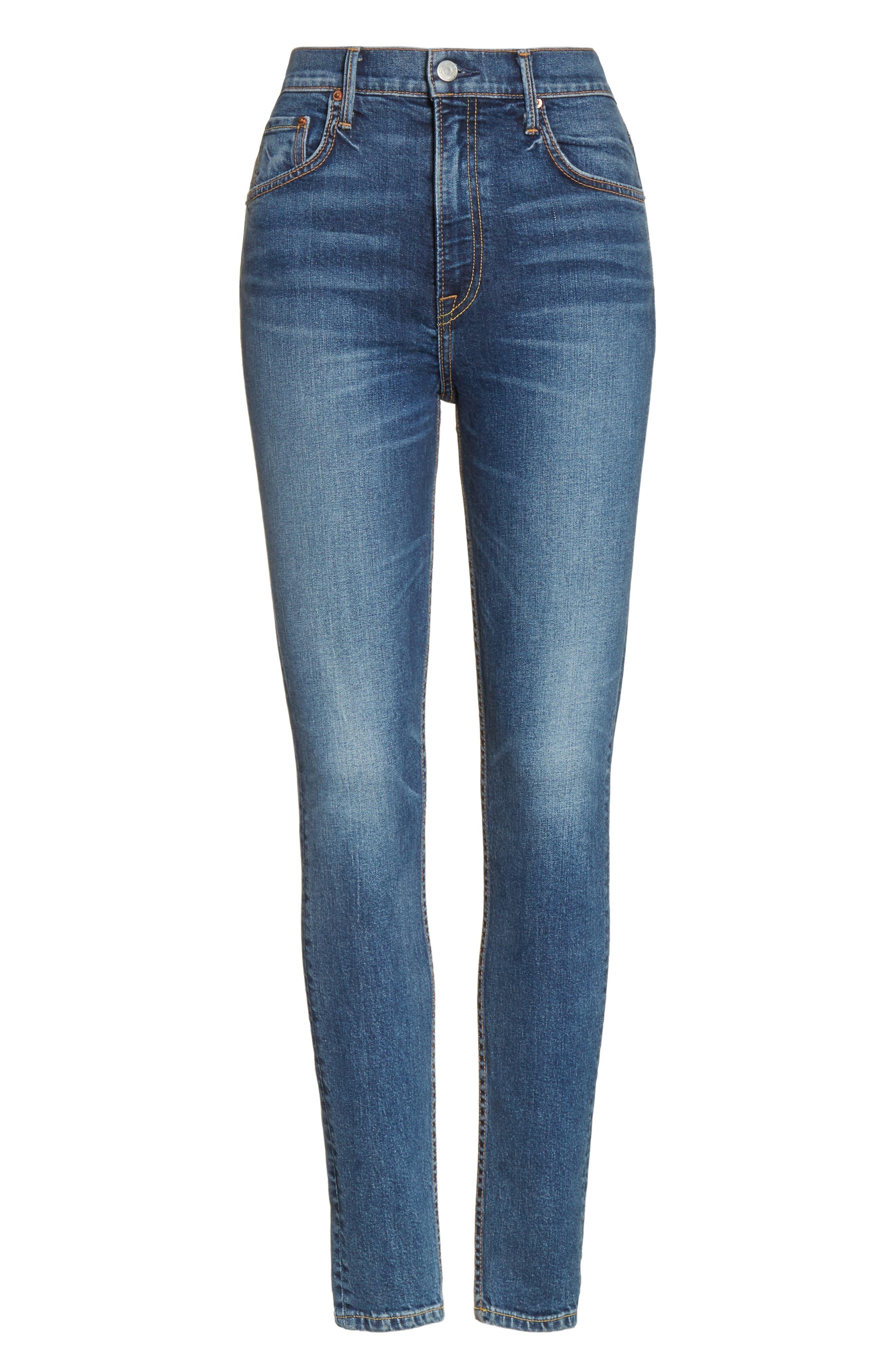 Alternate Image 6  - GRLFRND Kendall Super Stretch High Waist Skinny Jeans (No More Tears)