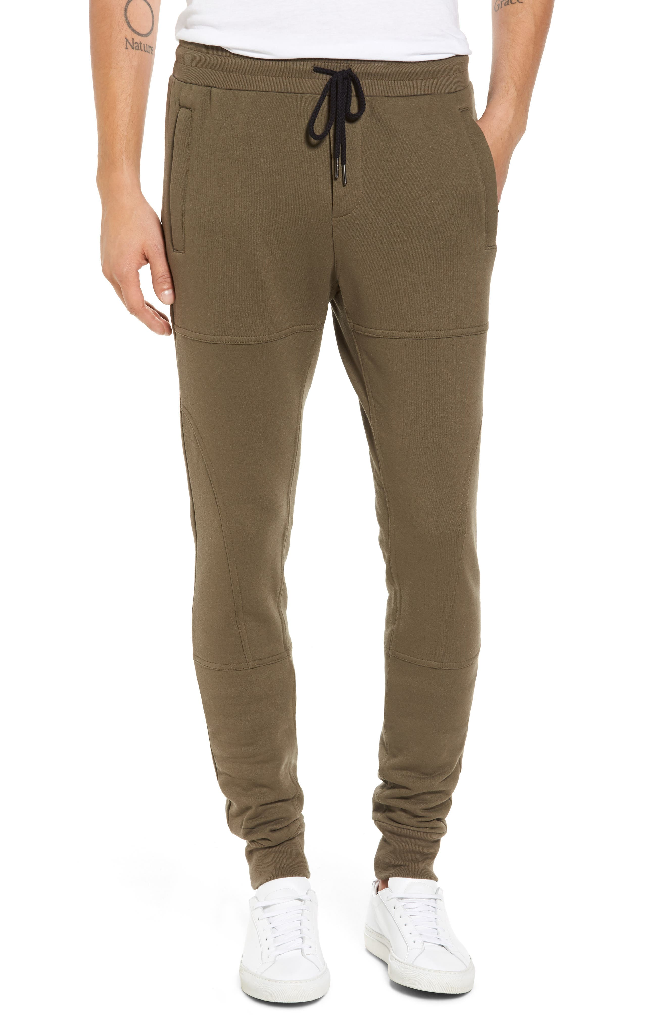 French Terry Sweatpants,                         Main,                         color, Army