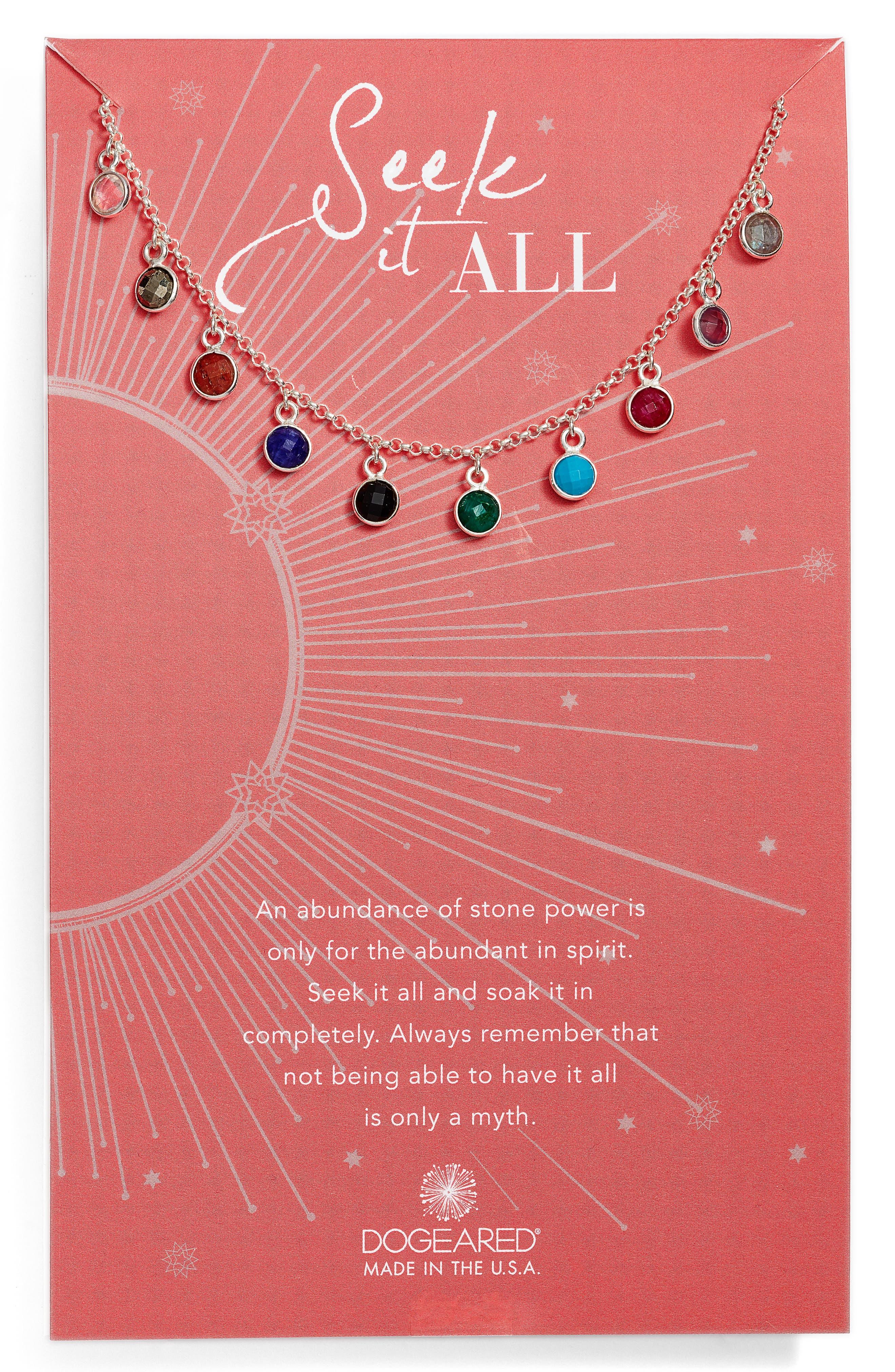 Main Image - Dogeared Seek It All Pendant Necklace