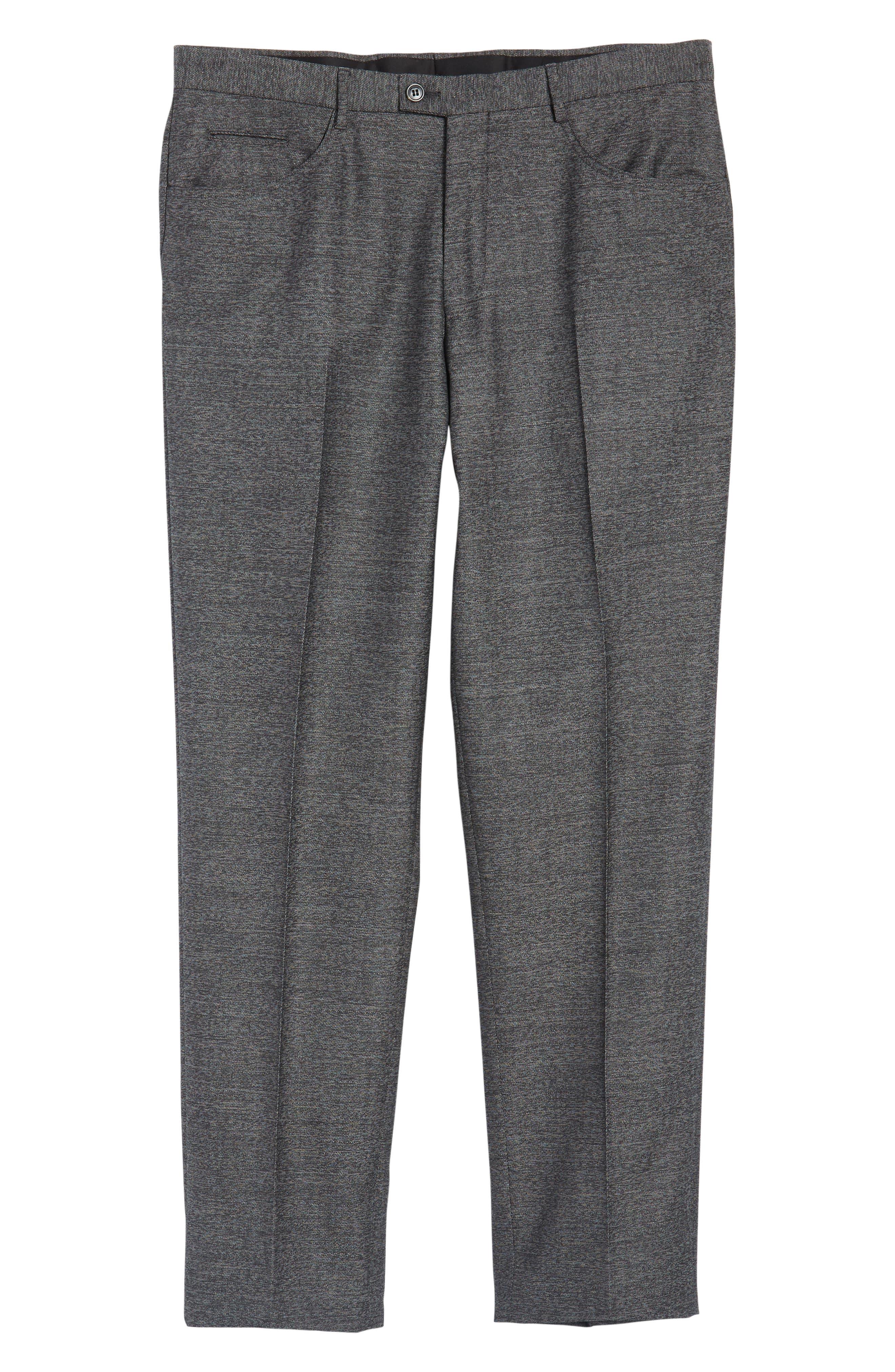 Sartorial Wool Five-Pocket Pants,                             Alternate thumbnail 6, color,                             Grey