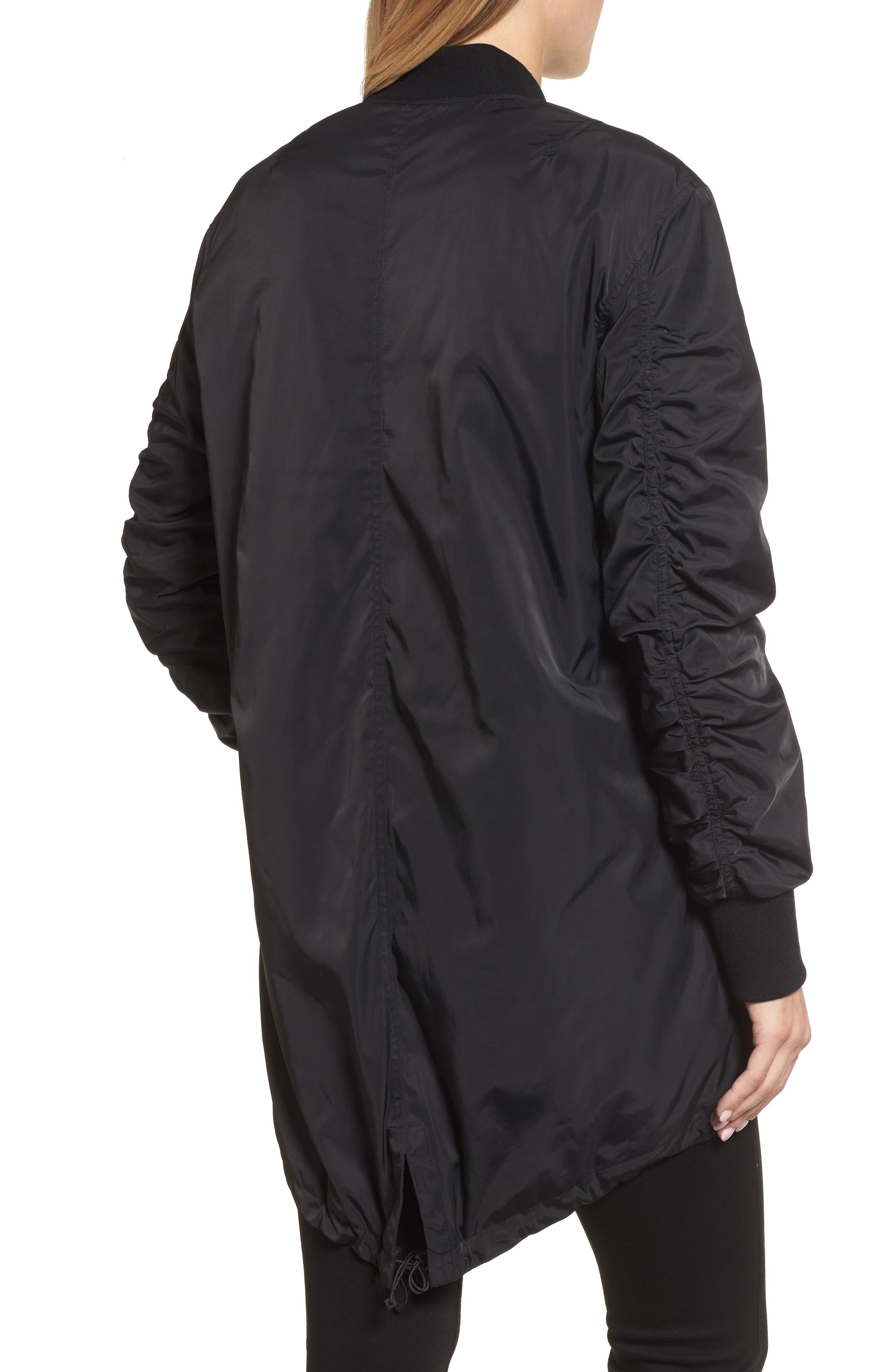 Bomber Anorak Jacket,                             Alternate thumbnail 2, color,                             Black