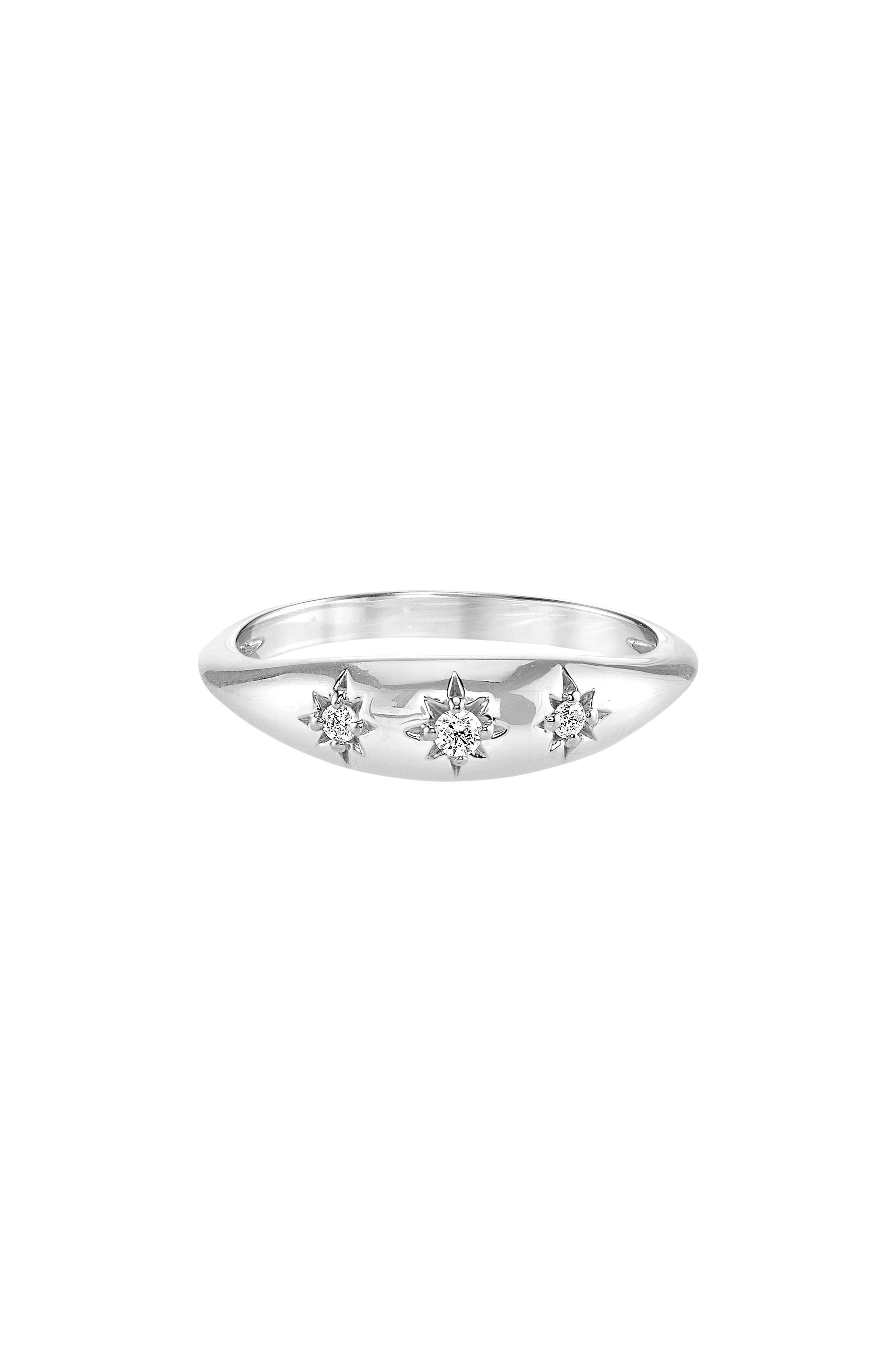 x Michelle Branch Diamond Ring,                         Main,                         color, Silver