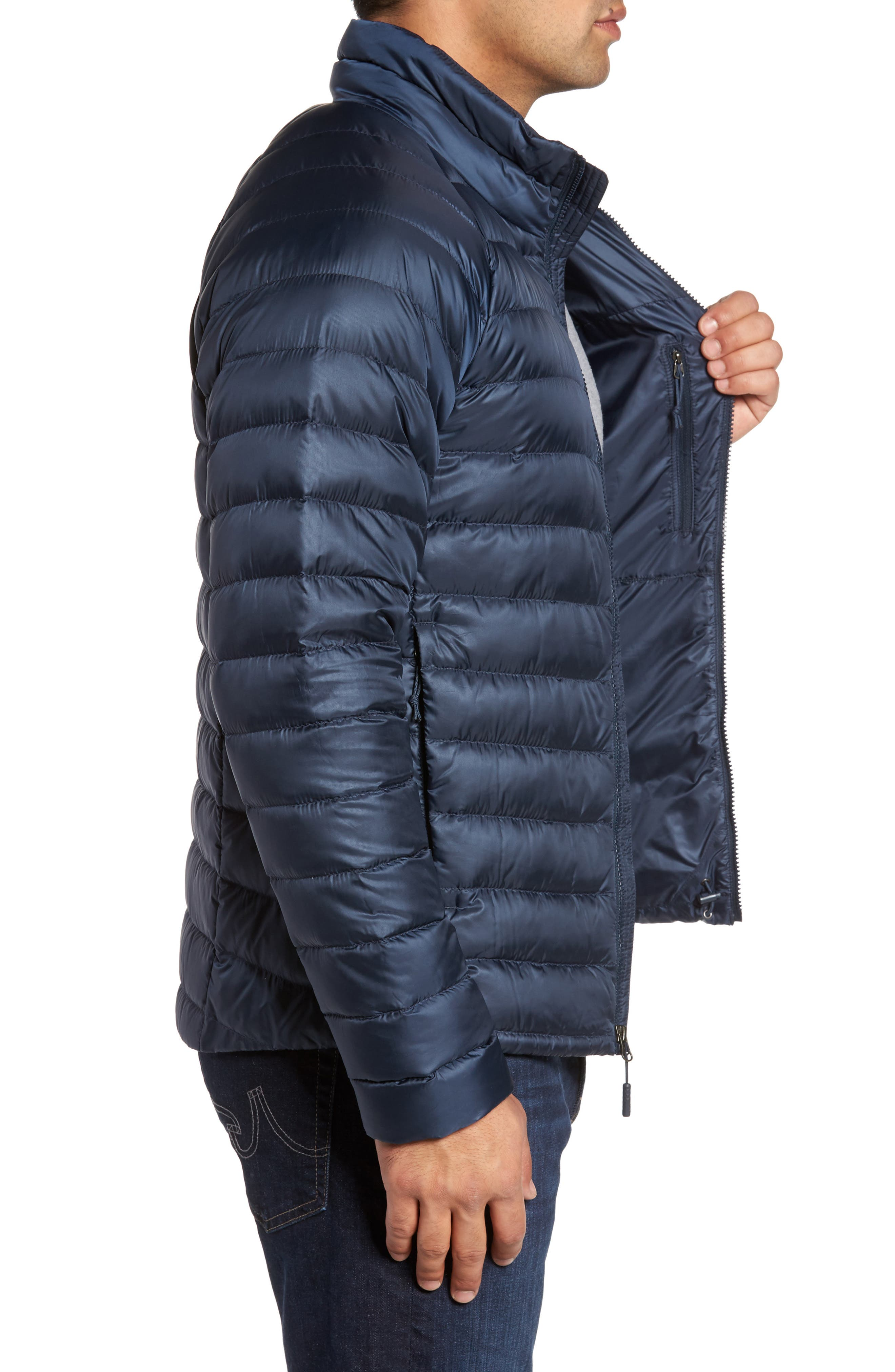 Trevail Water Repellent Packable Down Jacket,                             Alternate thumbnail 3, color,                             Urban Navy/ Urban Navy