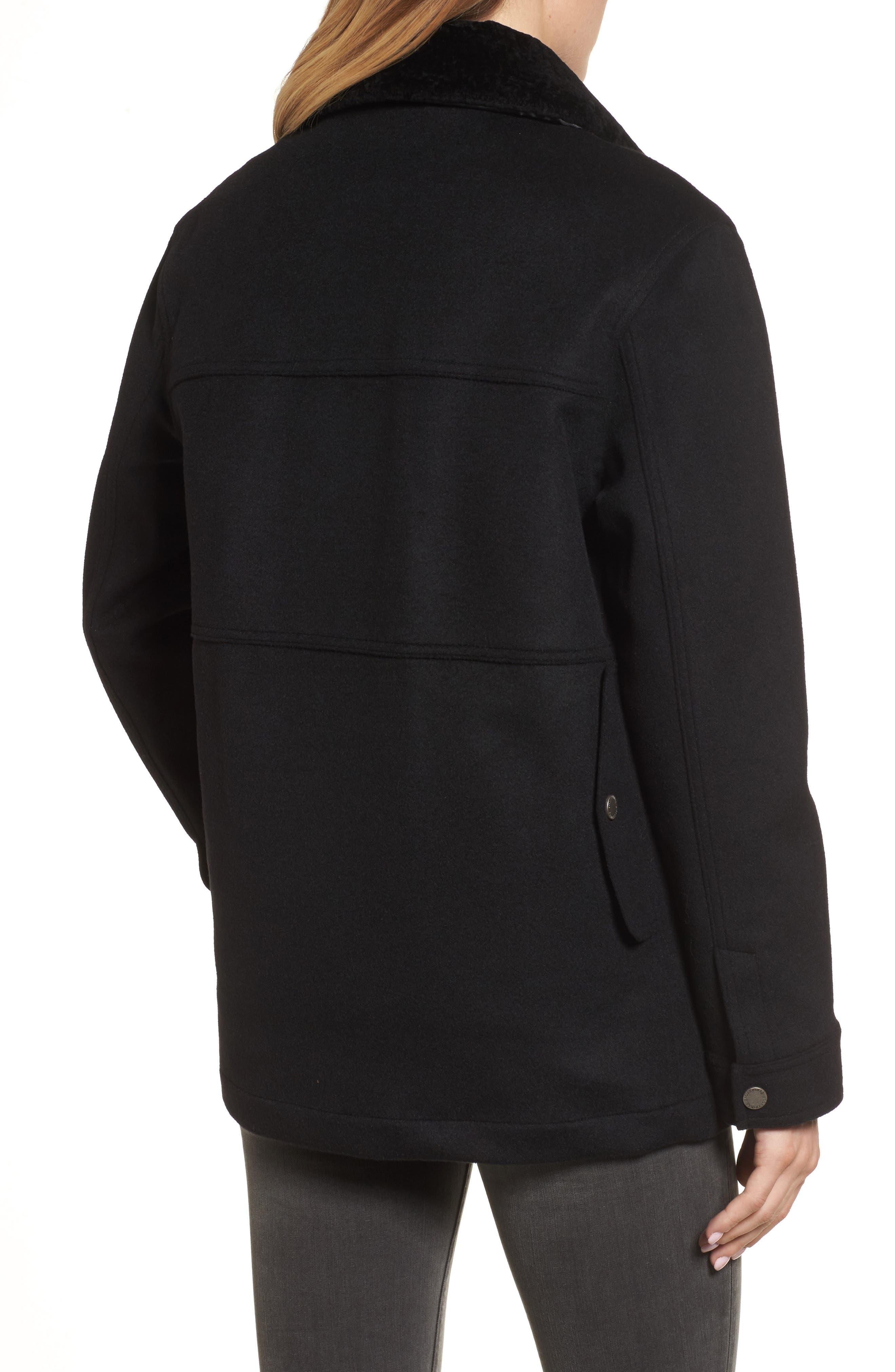 Manchester Waterproof Field Coat,                             Alternate thumbnail 2, color,                             Black