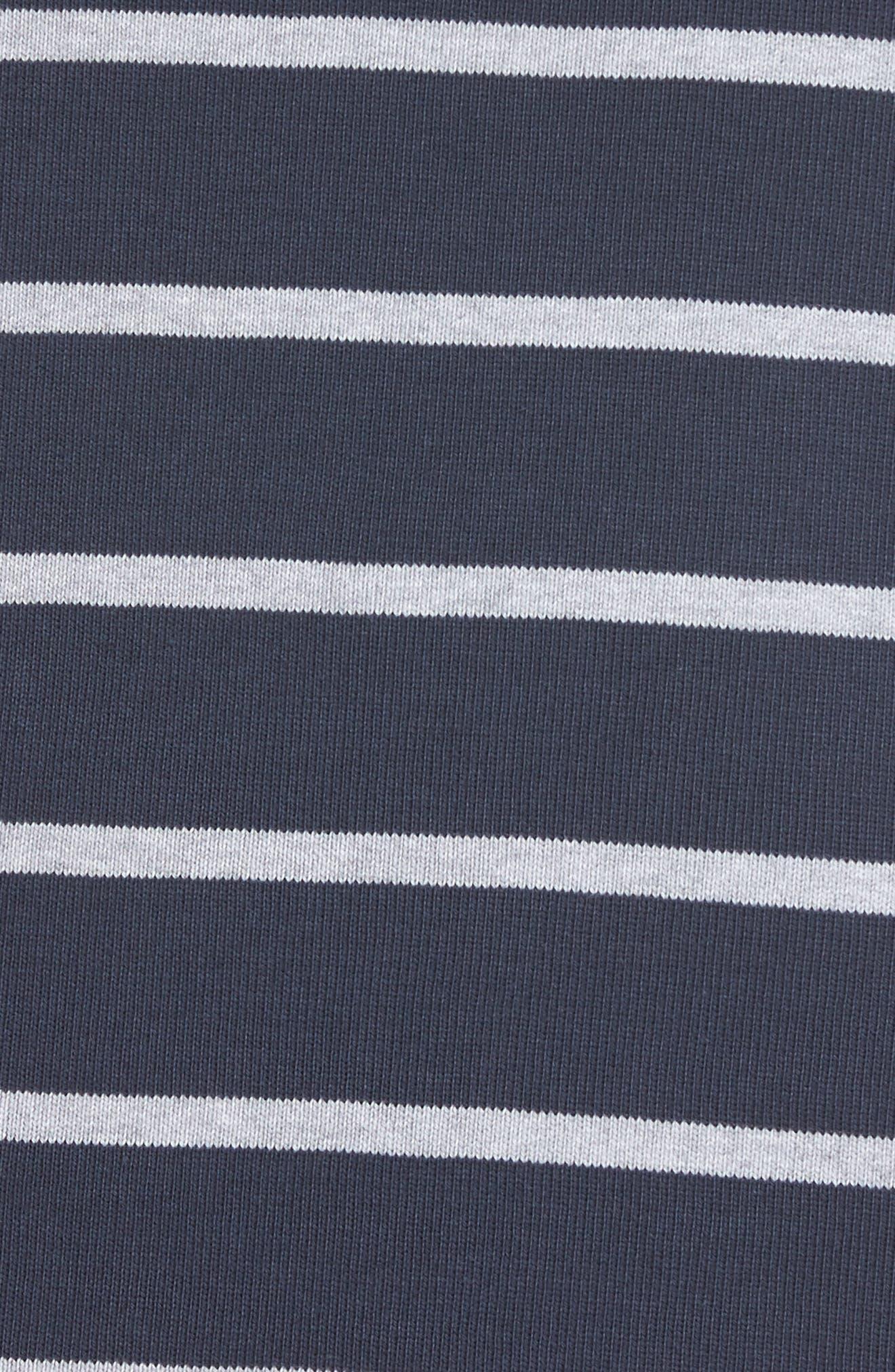 Seaburn Stripe Shift Dress,                             Alternate thumbnail 5, color,                             Navy