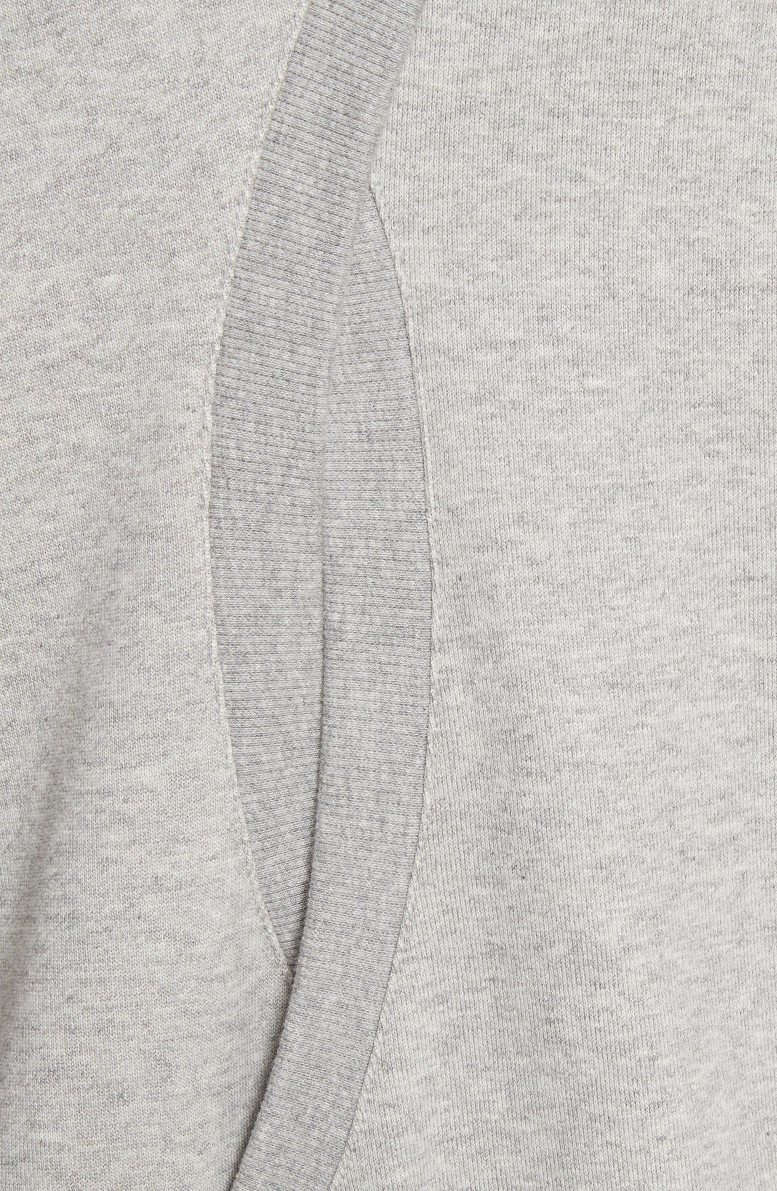 Covell Split Back Sweatshirt,                             Alternate thumbnail 5, color,                             Heather Grey