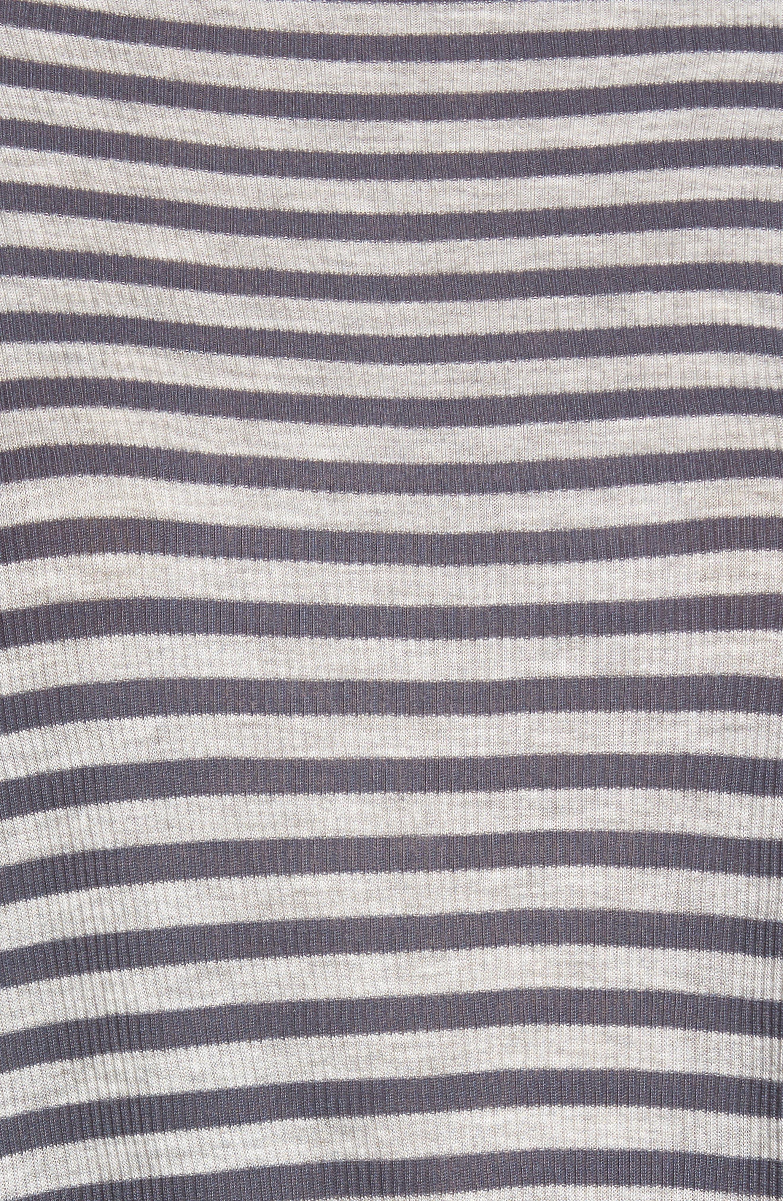 Anne Raglan Sleeve Tee,                             Alternate thumbnail 5, color,                             Blueberry/ Heather Grey