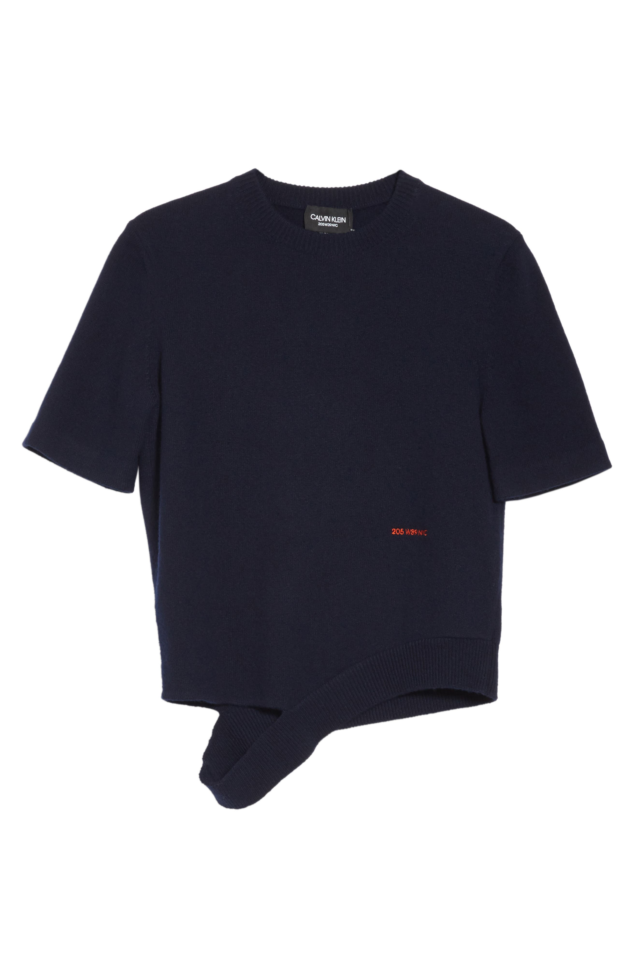 Logo Cashmere Sweater,                             Alternate thumbnail 6, color,                             Navy