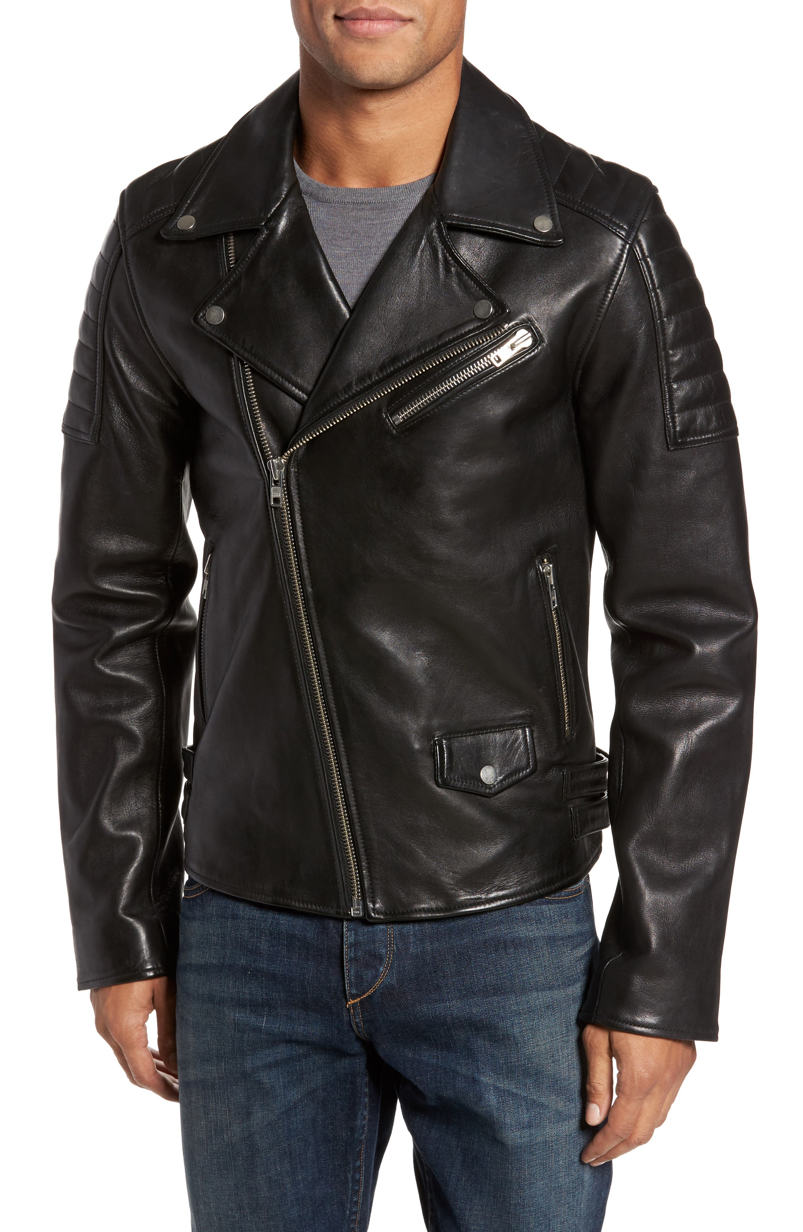 Alternate Image 1 Selected - LAMARQUE Leather Biker Jacket