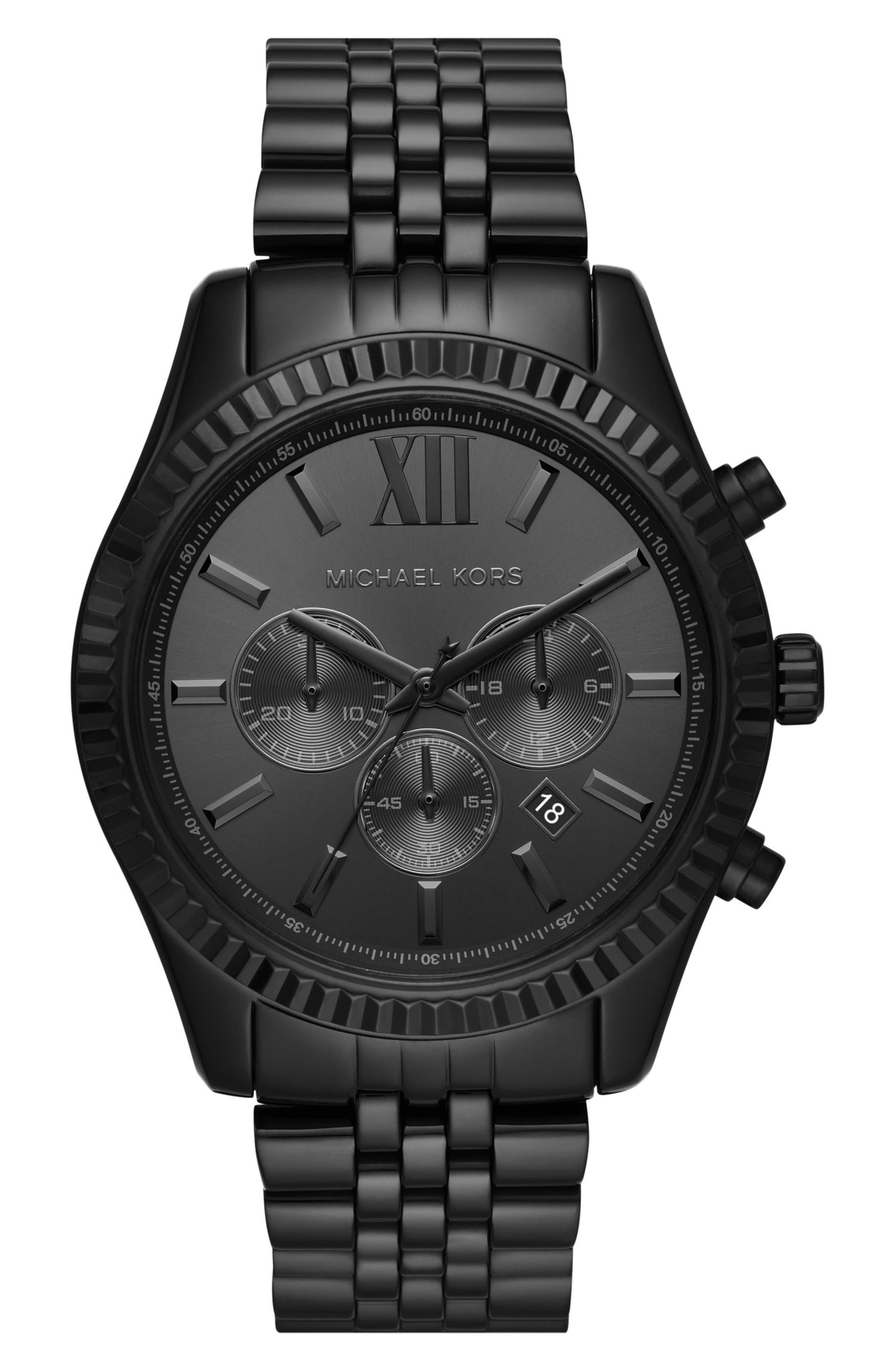 Main Image - Michael Kors Lexington Chronograph Bracelet Watch, 44mm