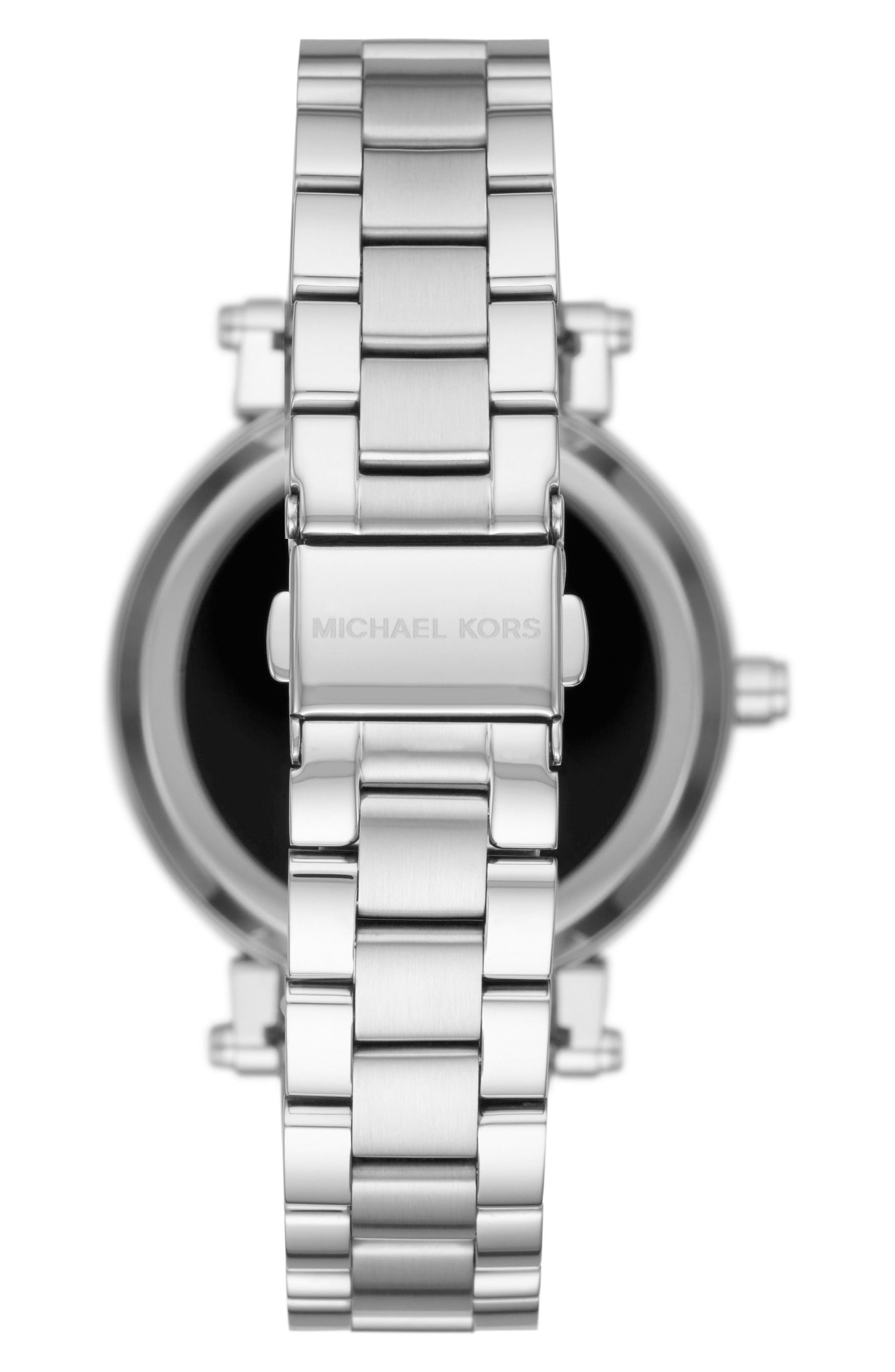Sofie Smart Bracelet Watch, 42mm,                             Alternate thumbnail 2, color,                             Silver/ Black/ Silver