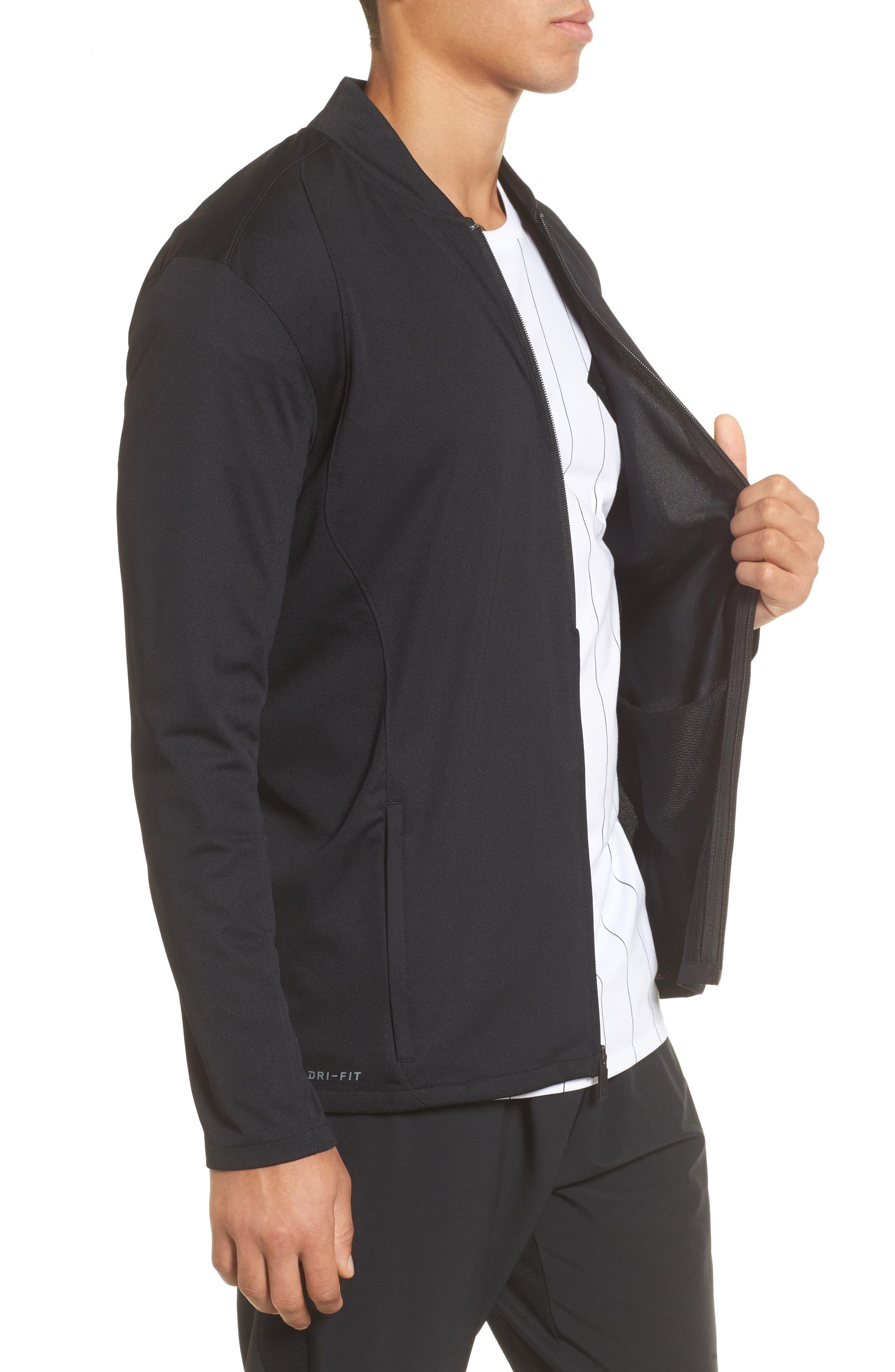 Ultimate Flight Zip Jacket,                             Alternate thumbnail 3, color,                             Black/ Black