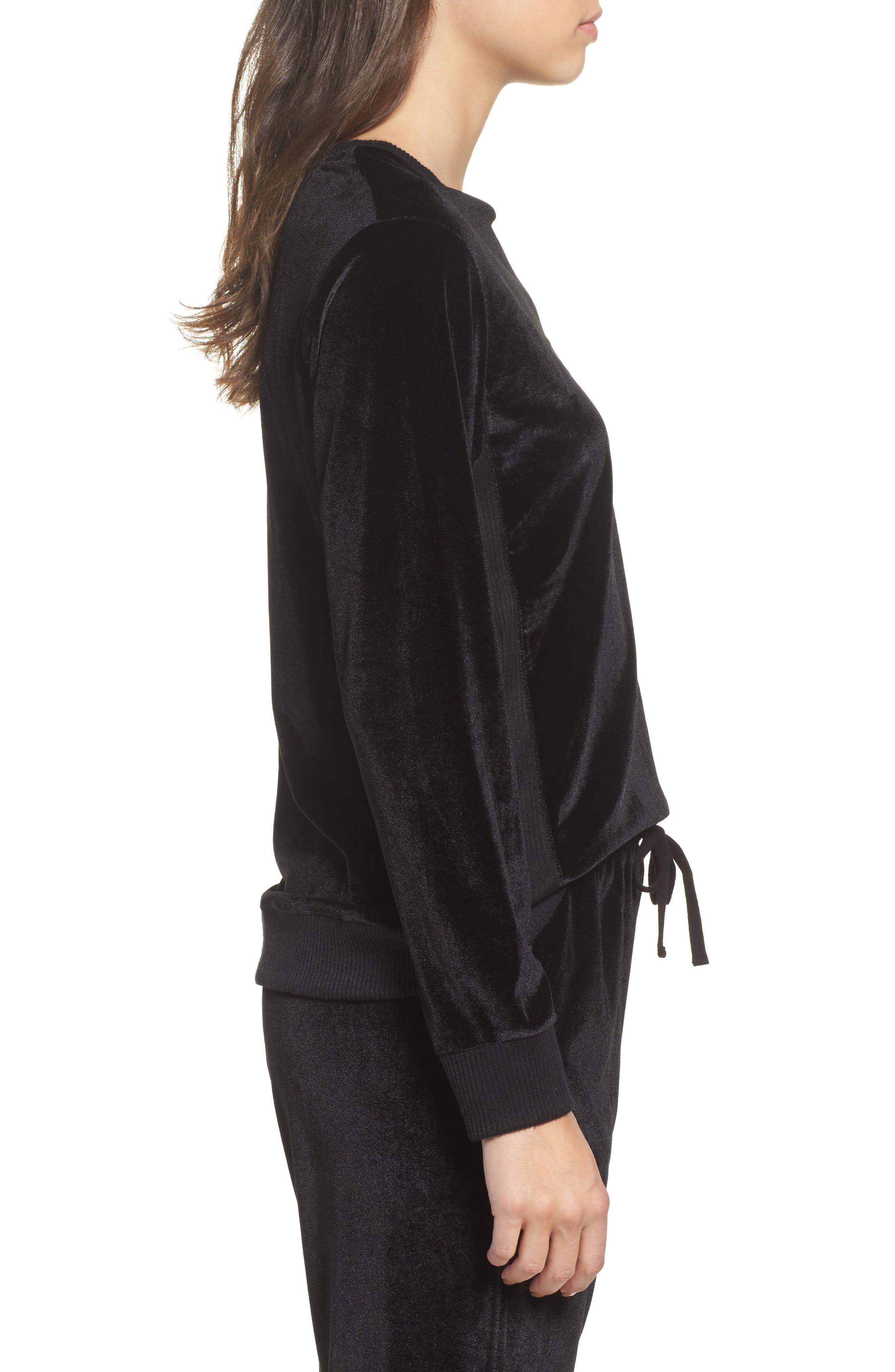 Alternate Image 3  - DKNY Velour Sweatshirt