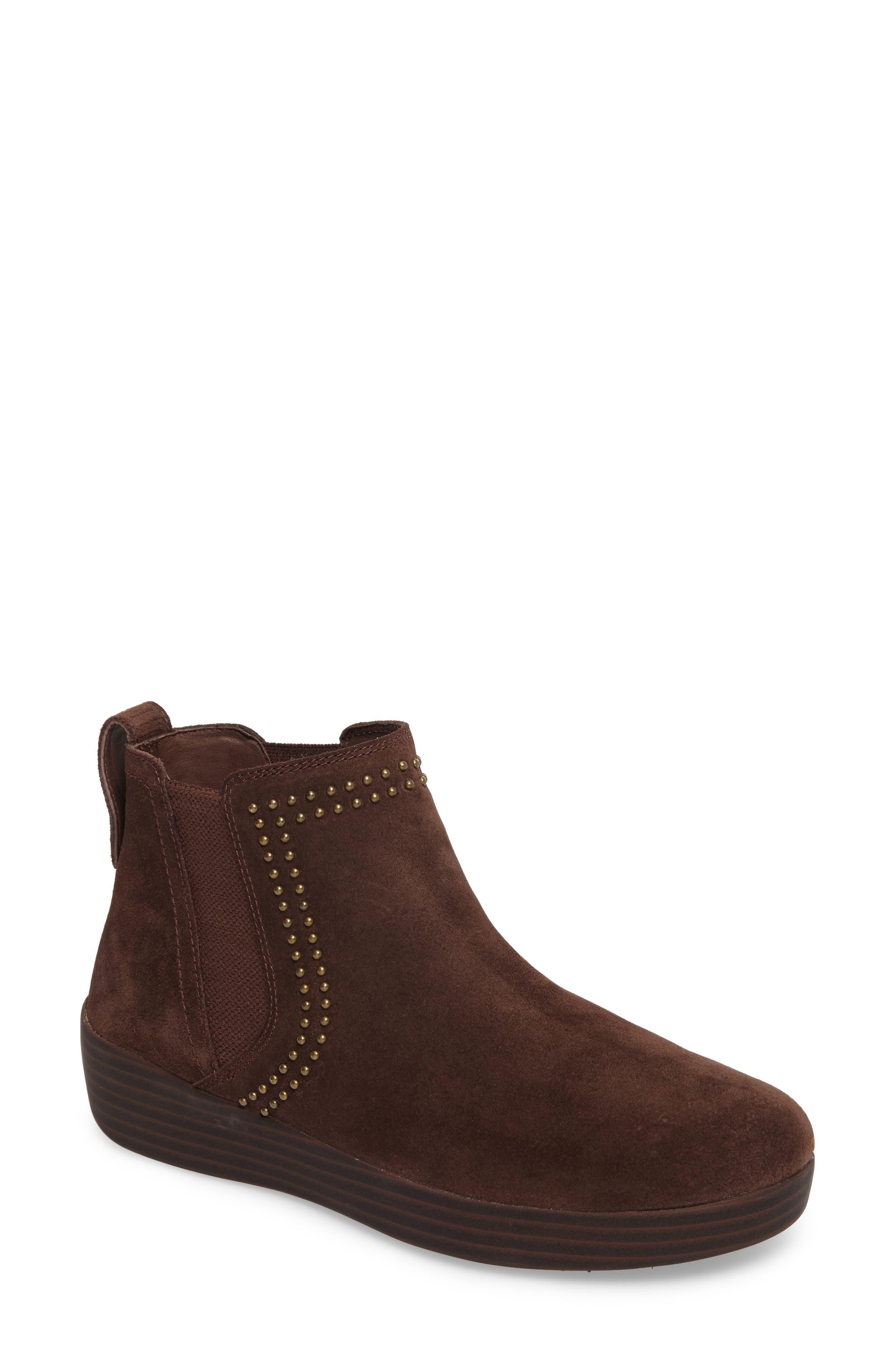 Superchelsea Studded Boot,                             Main thumbnail 1, color,                             Chocolate