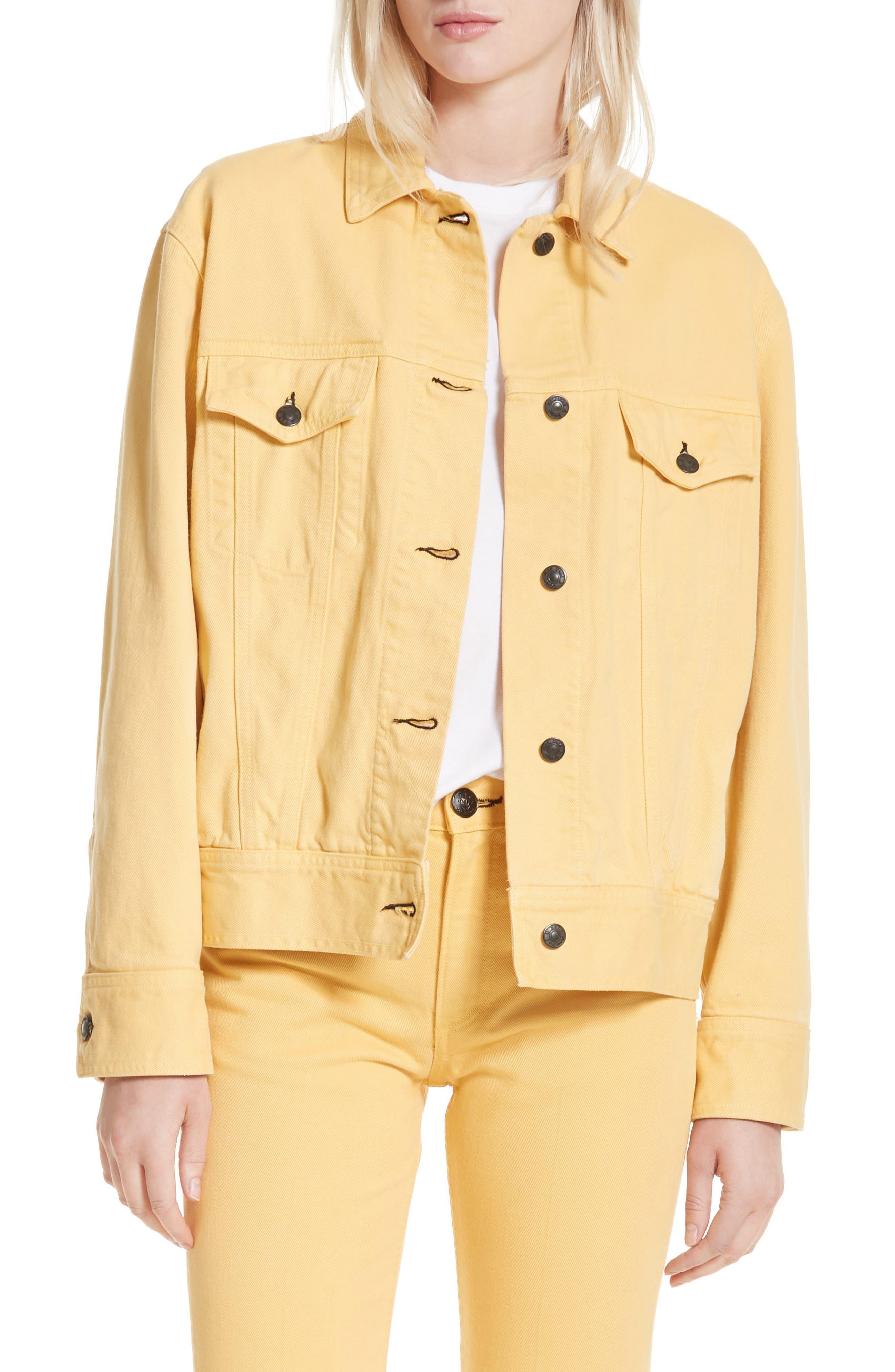 rag & bone Oversize Twill Jacket,                         Main,                         color, Sunrise