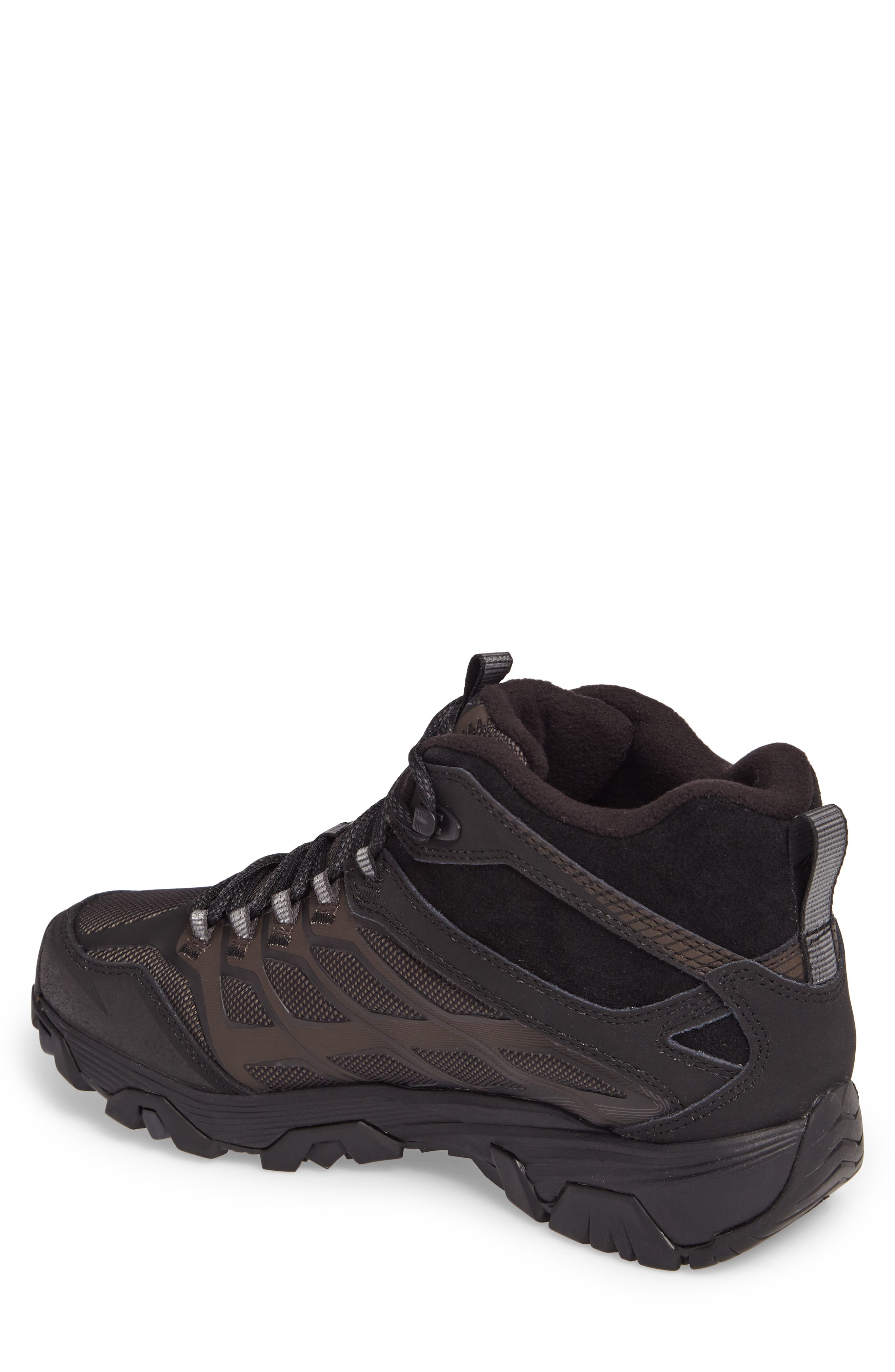 Moab FST Ice Thermo Waterproof Hiking Shoe,                             Alternate thumbnail 2, color,                             Black Fabric