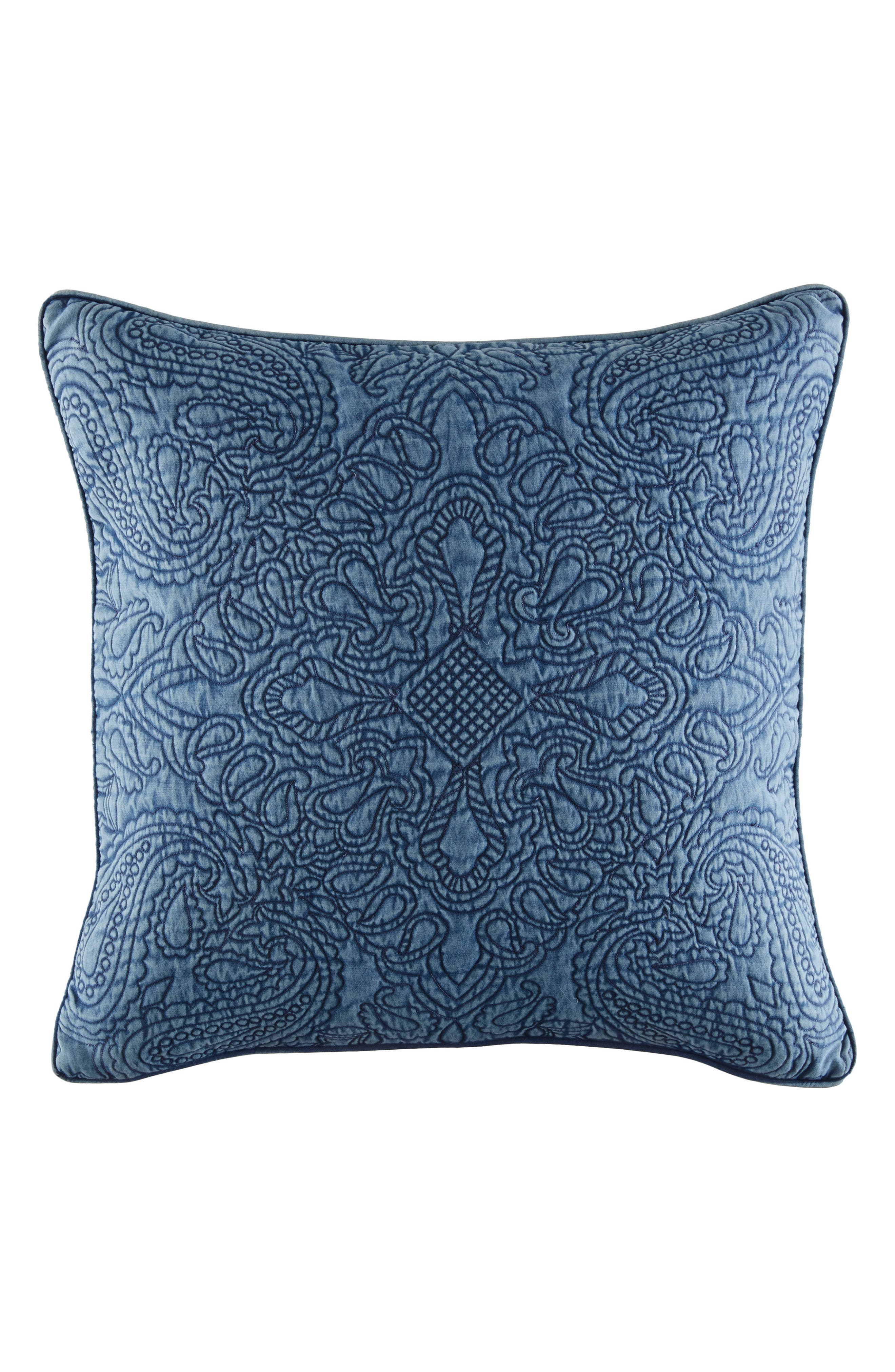 Vintage Bandana Accent Pillow,                         Main,                         color, Denim Blue