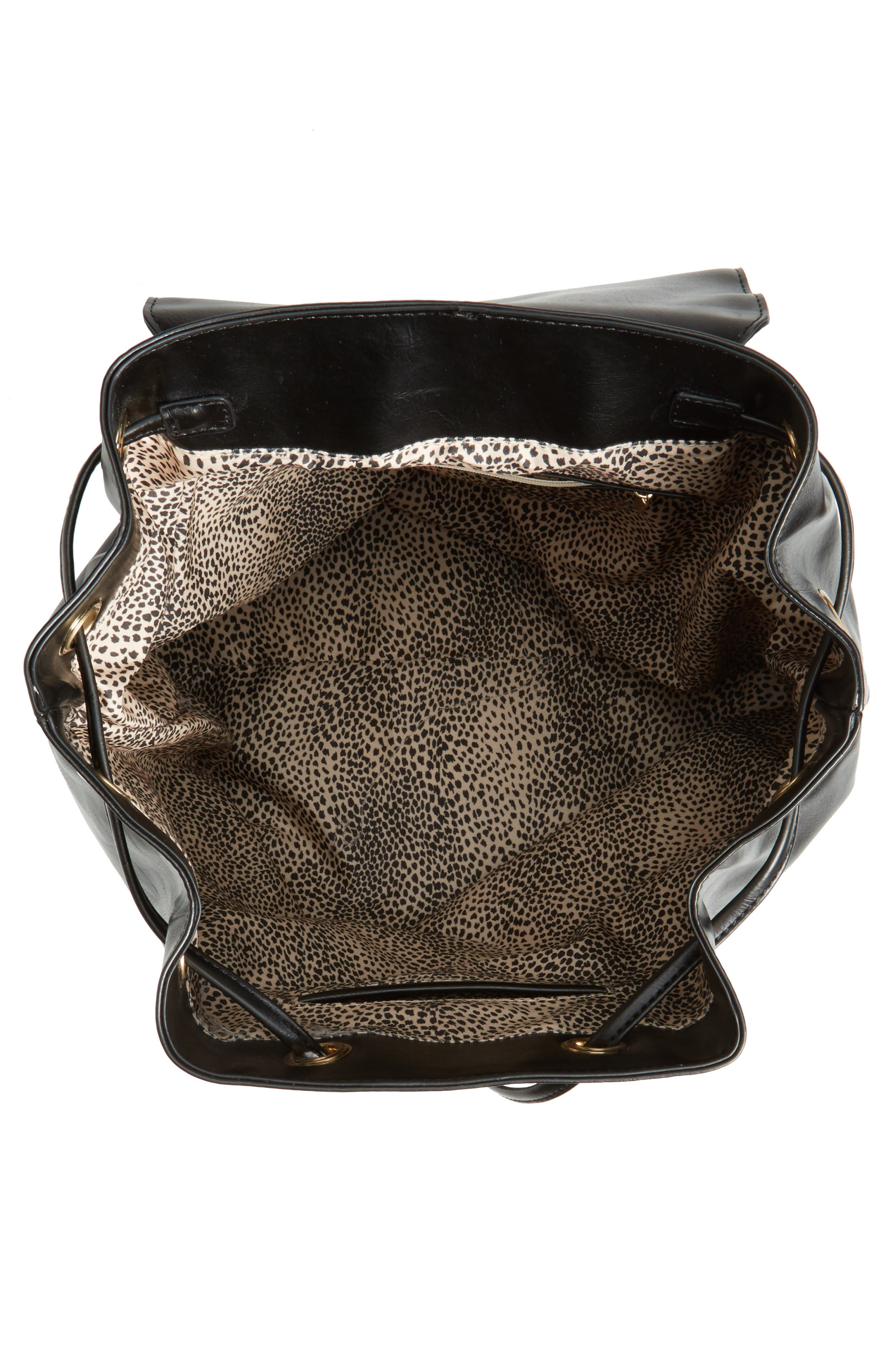 Alternate Image 3  - Sole Society Carly Slouchy Faux Leather Backpack