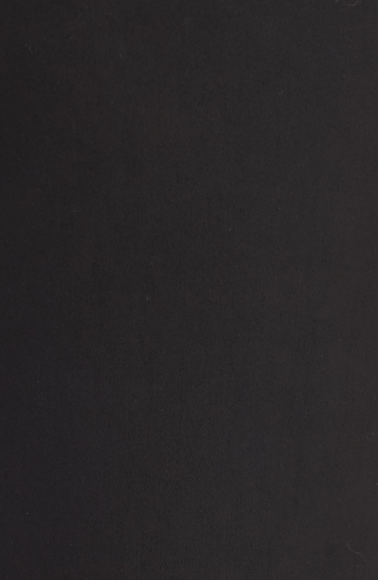 Farrah High Waist Ankle Skinny Jeans,                             Alternate thumbnail 5, color,                             Leatherette Super Black