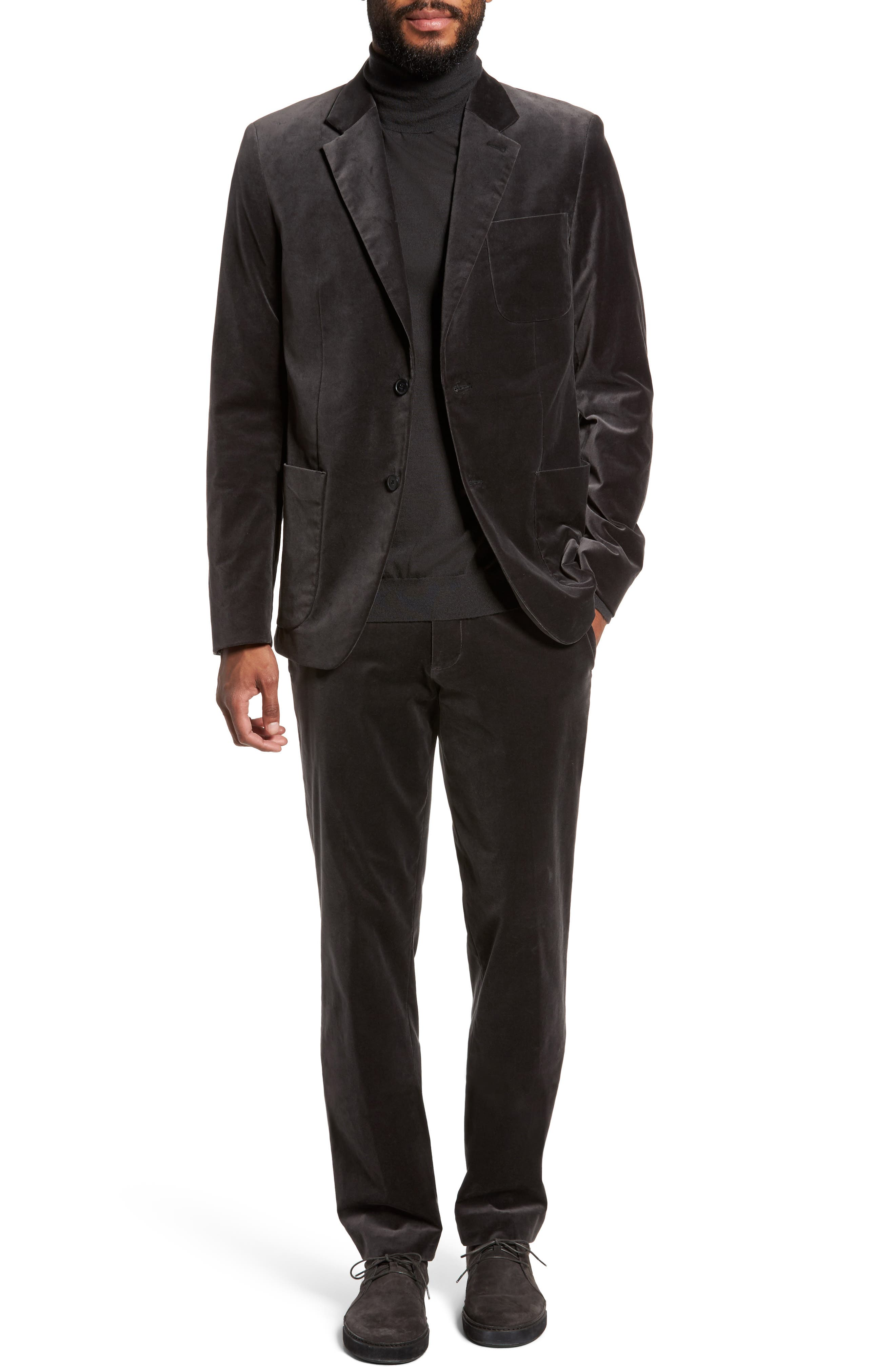 Alternate Image 7  - Vince Velvet Patch Pocket Blazer